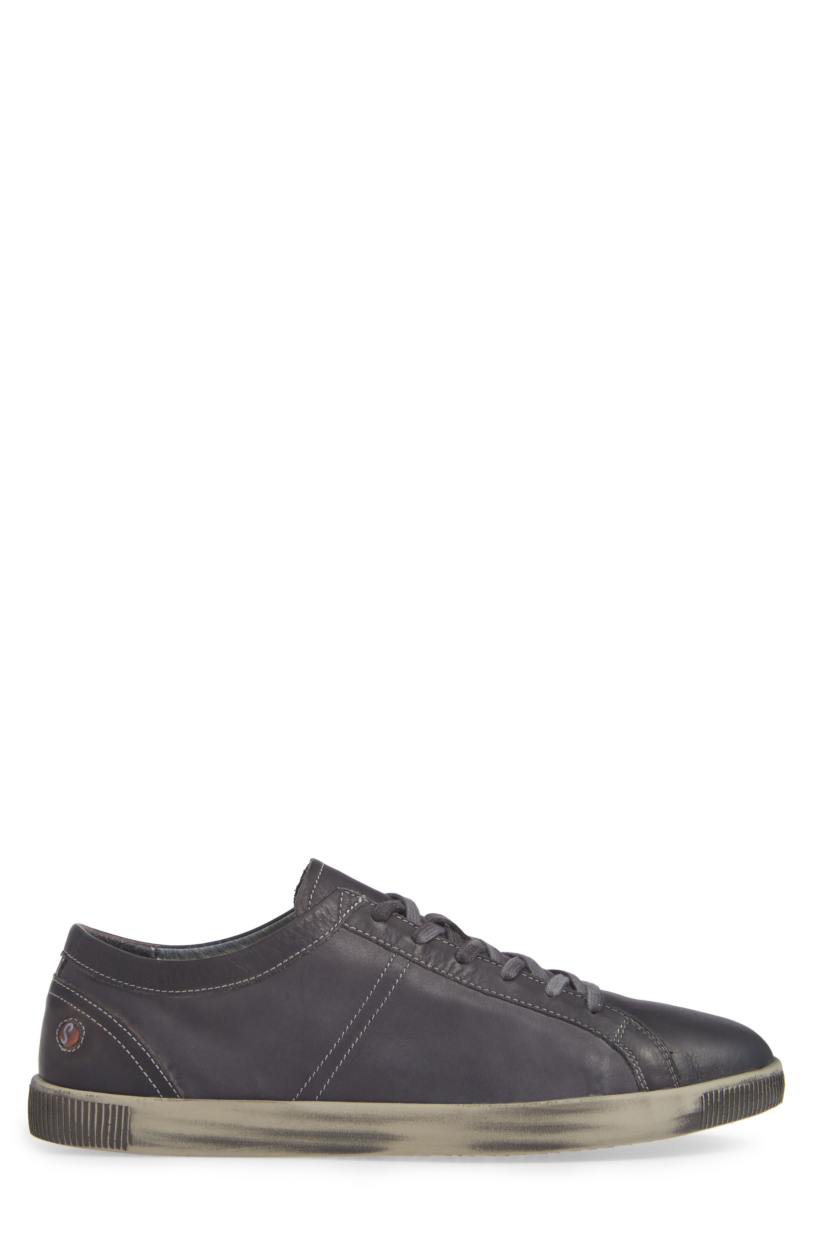 Tom Sneaker,                             Alternate thumbnail 3, color,                             ANTHRACITE WASHED LEATHER