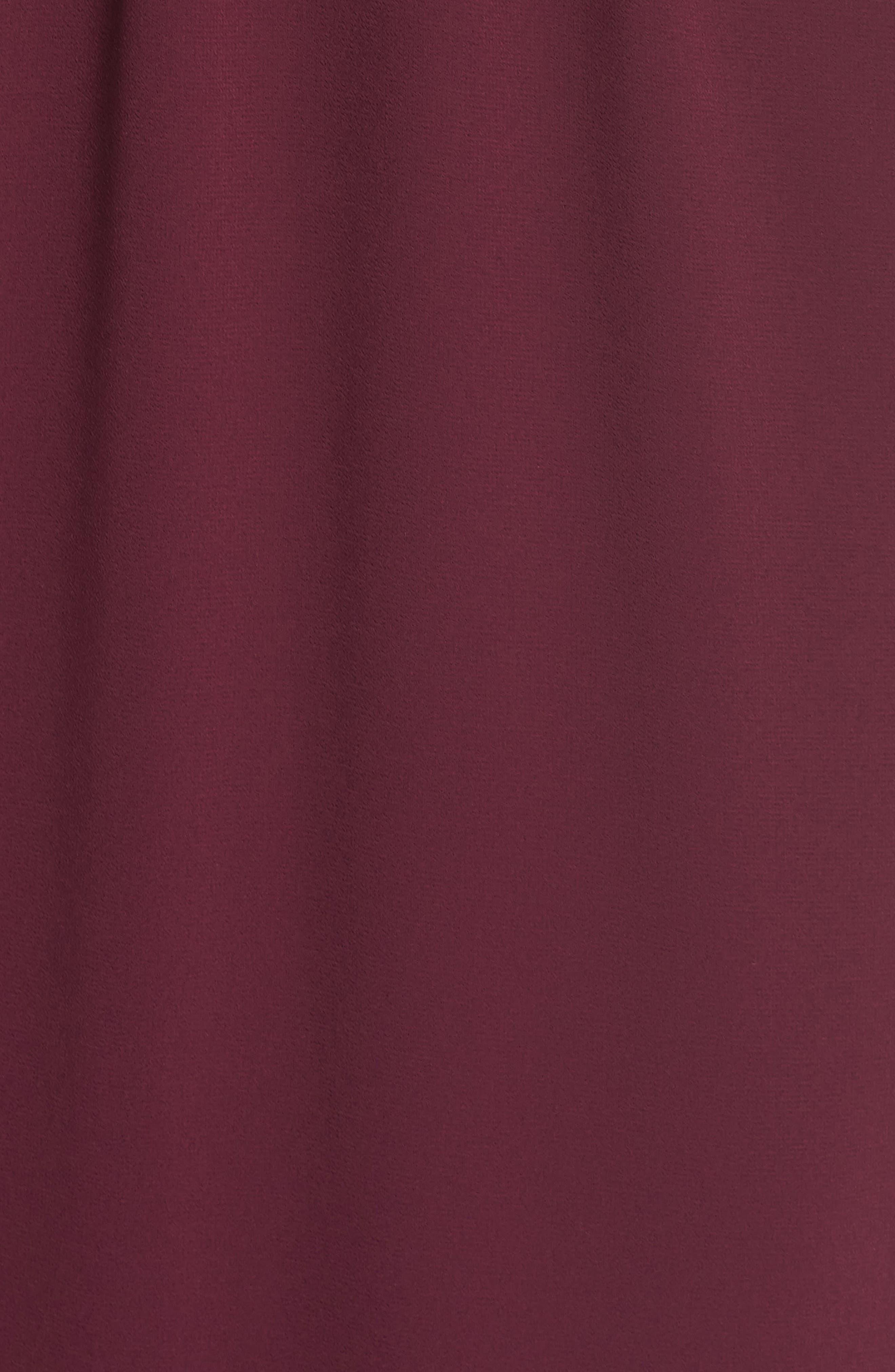 Hacienda Convertible Gown,                             Alternate thumbnail 6, color,                             MERLOT CHIFFON