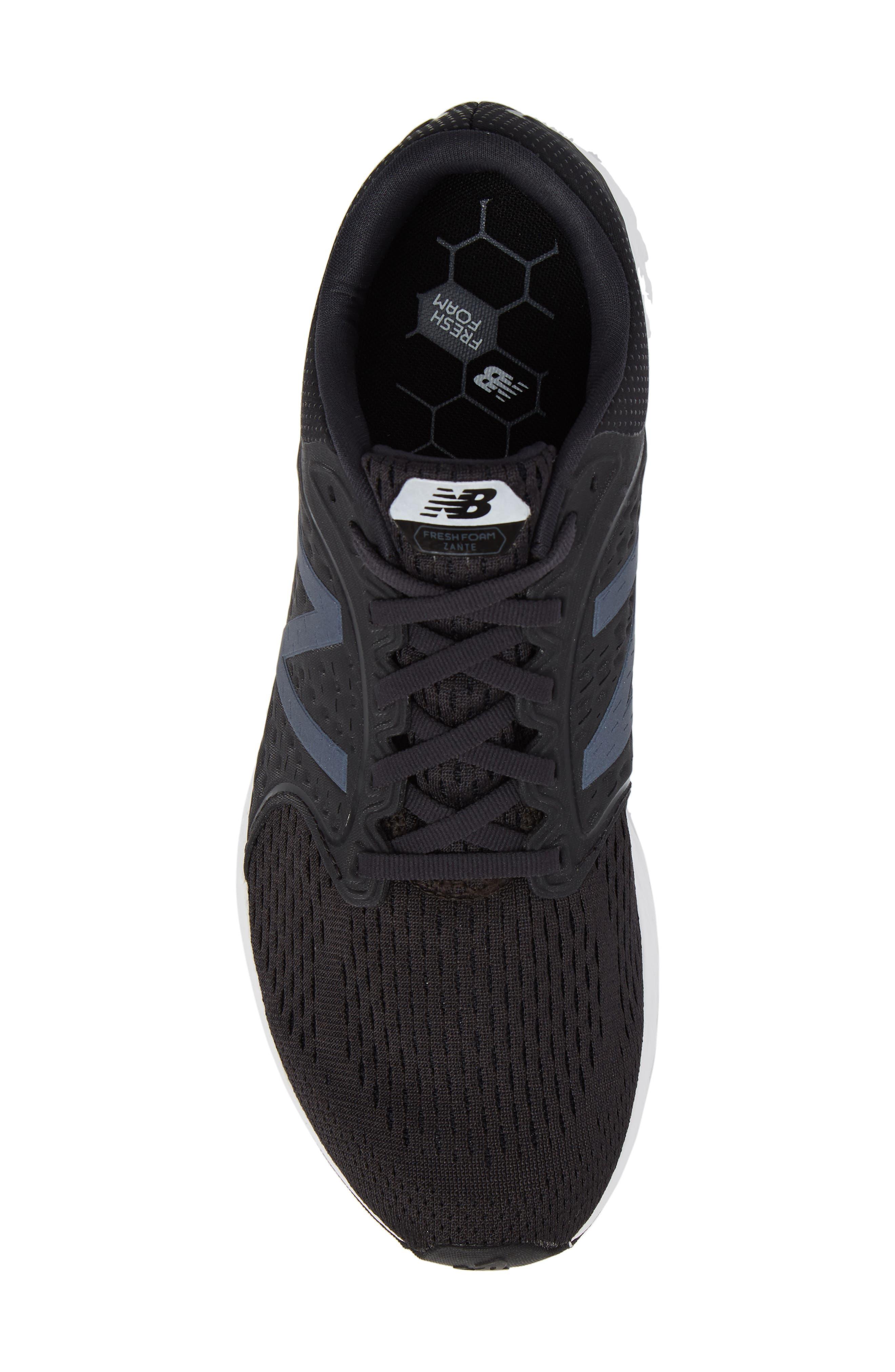 Fresh Foam Zante v4 Sneaker,                             Alternate thumbnail 5, color,                             BLACK