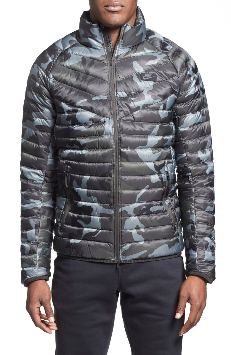Nike  Guild 550  Camo Print Quilted Down Jacket  8349e5f3e