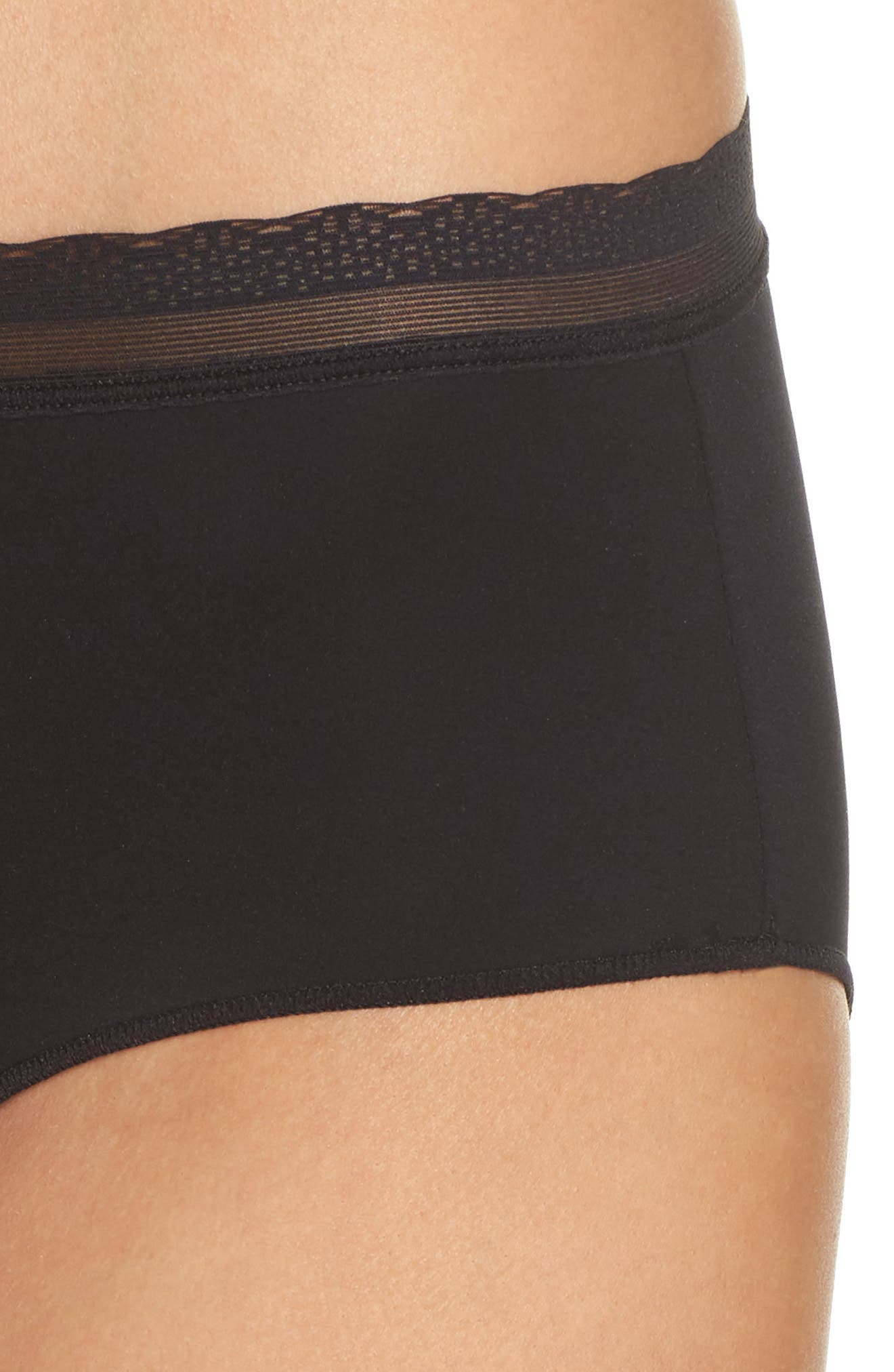 Next to Nothing Hipster Briefs,                             Alternate thumbnail 4, color,                             BLACK