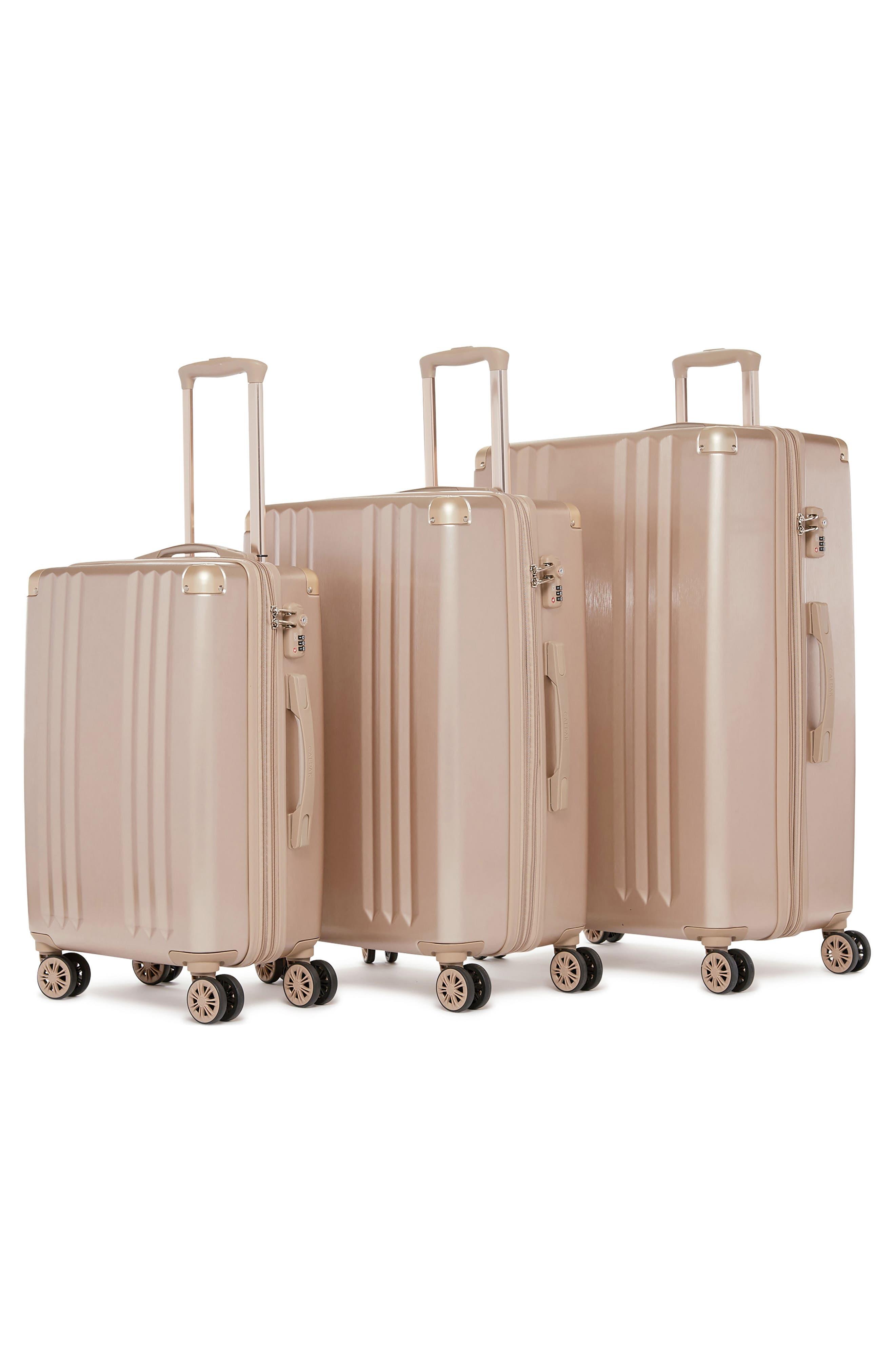 Ambeur 3-Piece Metallic Luggage Set,                             Alternate thumbnail 2, color,                             GOLD