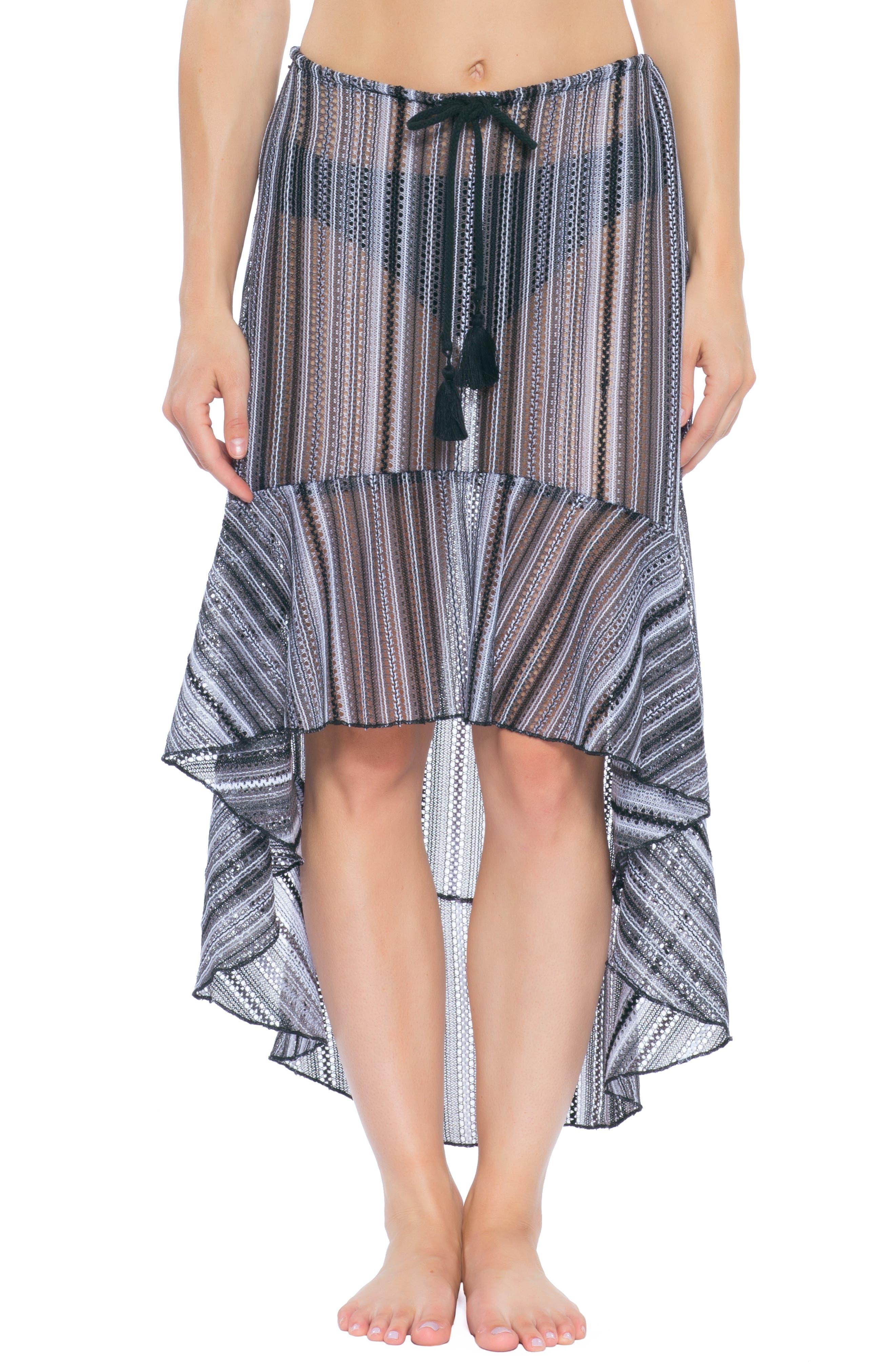 Becca Pierside Cover-Up Skirt, Black