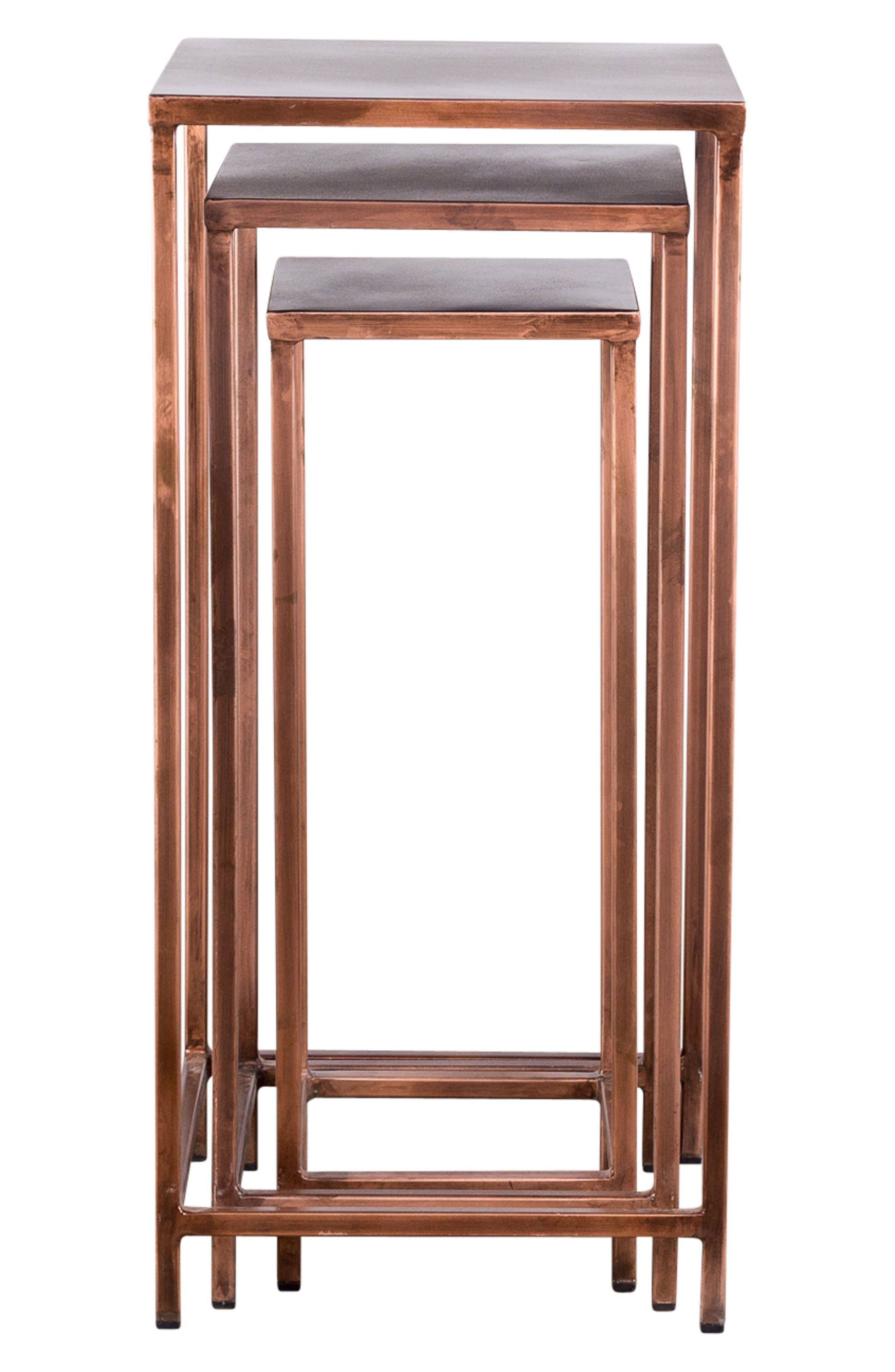 Pollock Set of 3 Tall Nesting Tables,                         Main,                         color, COPPER