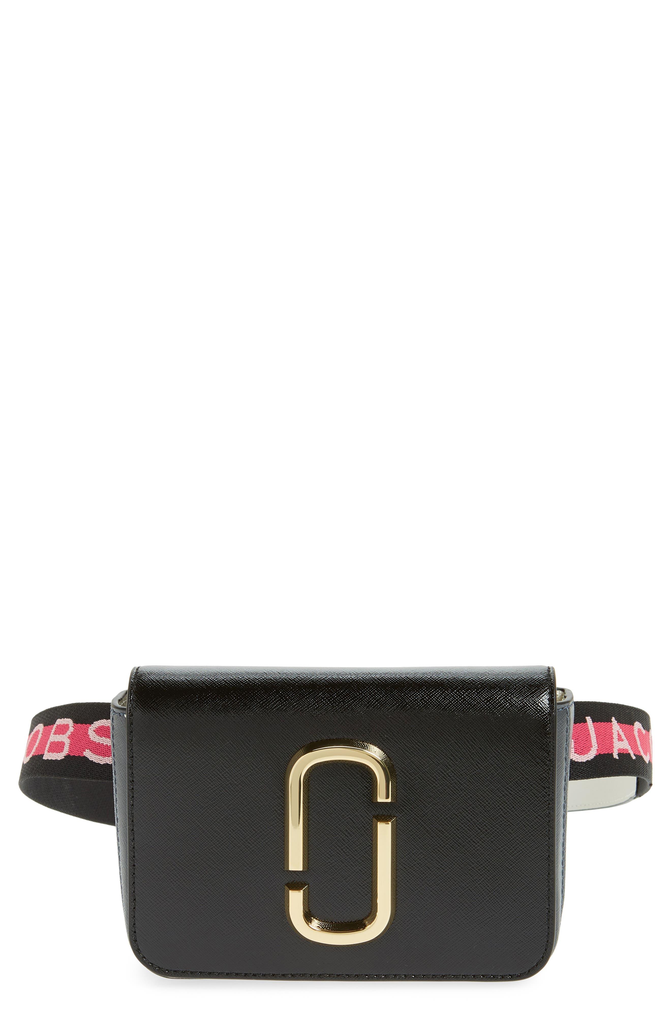 Hip Shot Convertible Leather Belt Bag,                         Main,                         color, BLACK MULTI