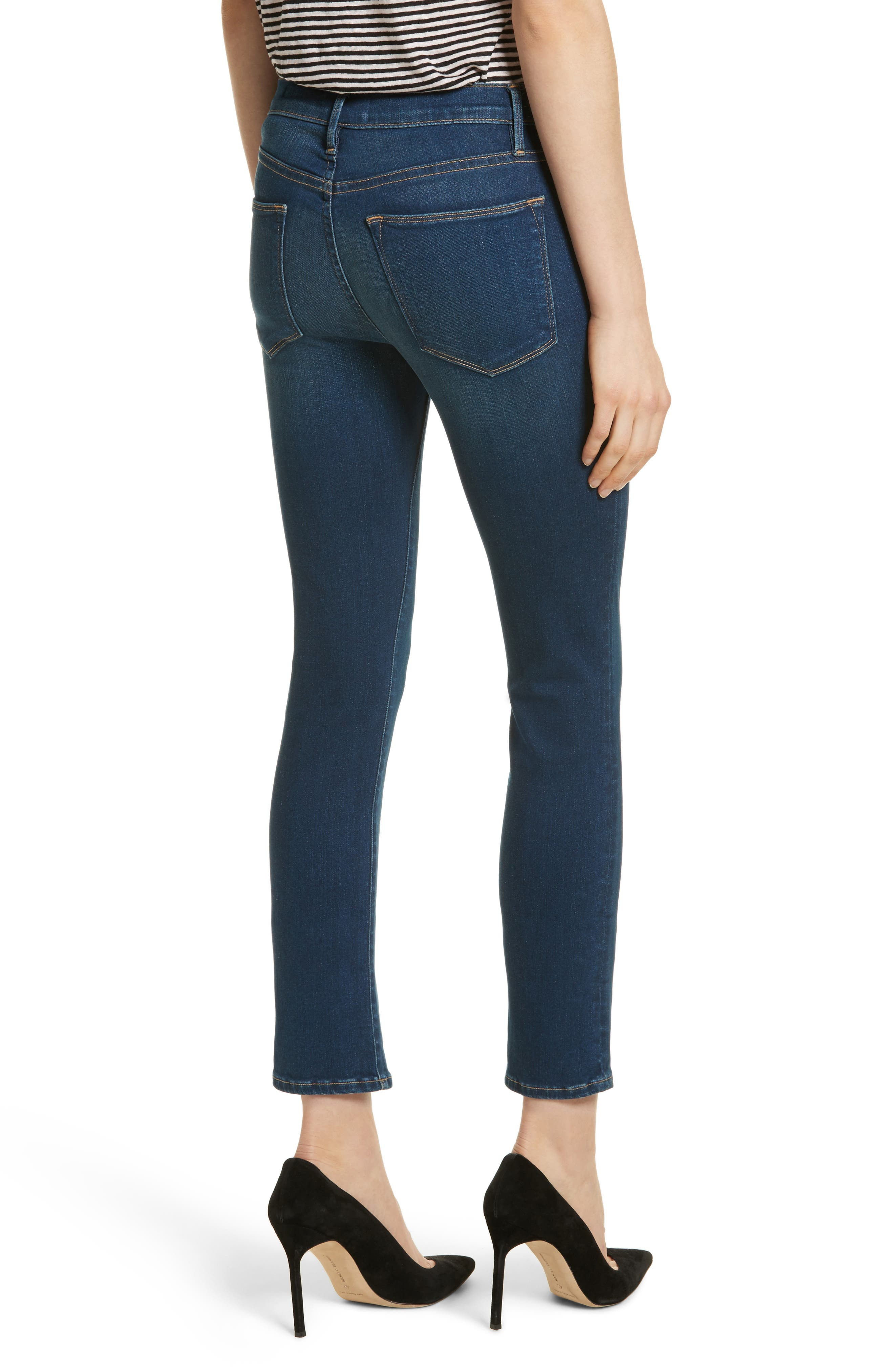Le High Skinny Ankle Jeans,                             Alternate thumbnail 2, color,