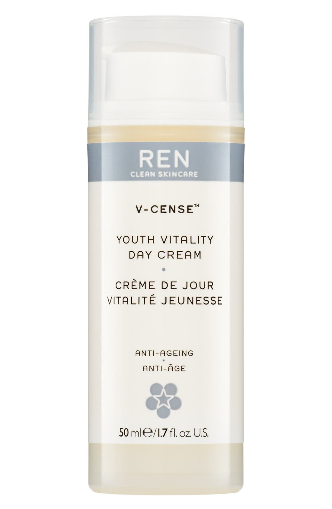 SPACE.NK.apothecary REN V-Cense<sup>™</sup> Youth Vitality Day Cream,                             Main thumbnail 1, color,                             000