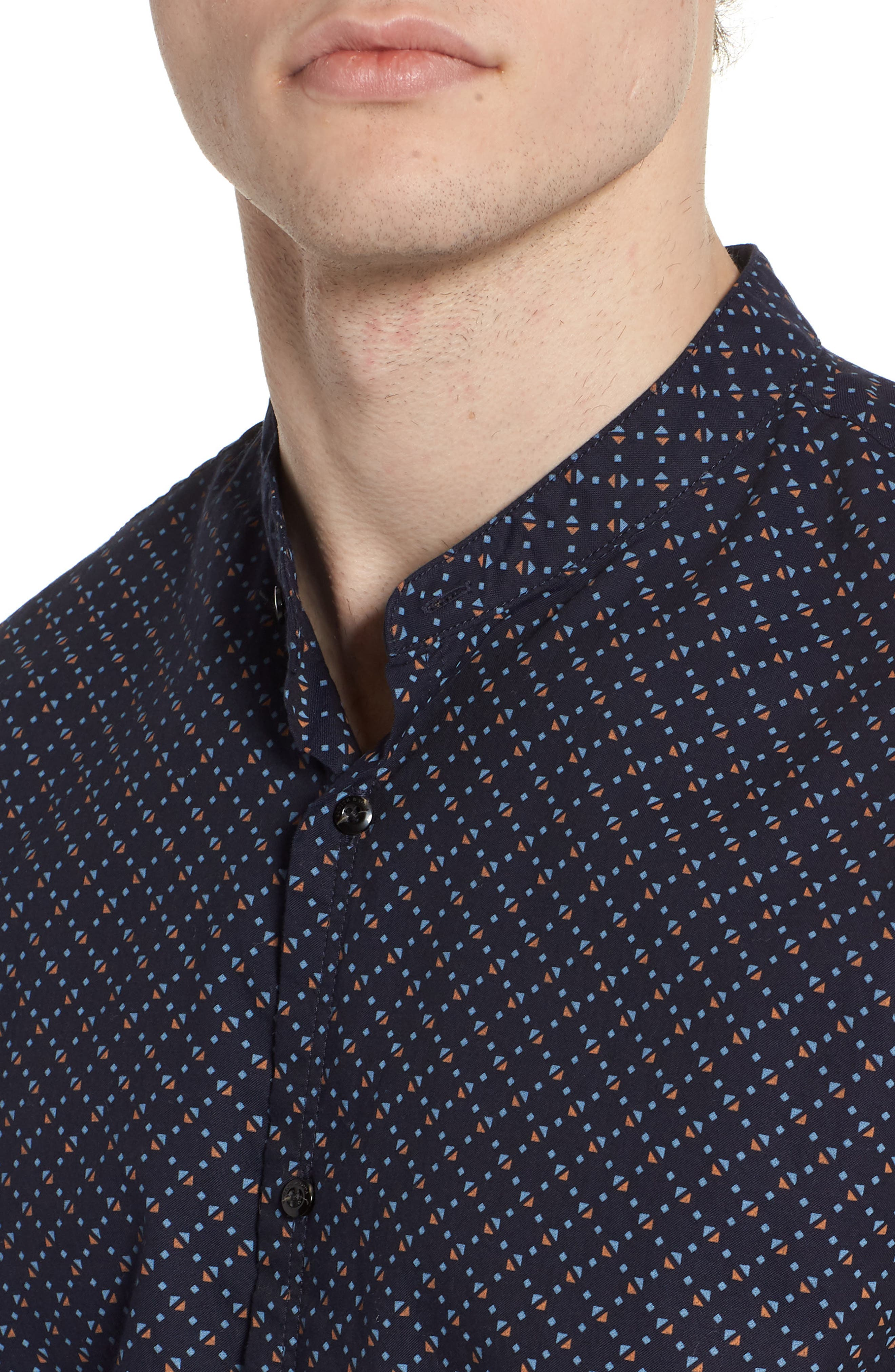 Woven Oxford Shirt,                             Alternate thumbnail 4, color,                             401