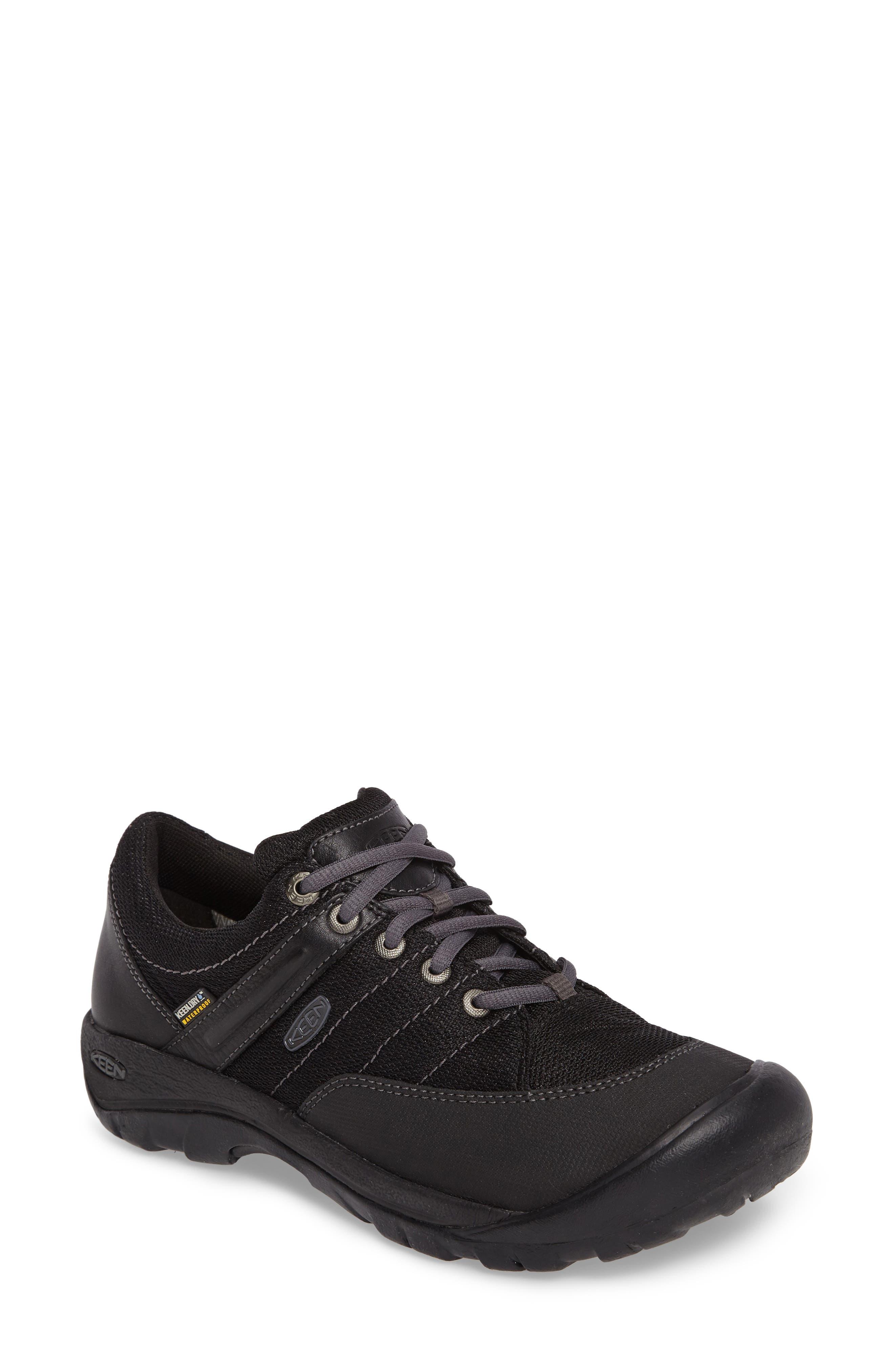 Presidio Waterproof Sport Sneaker,                             Main thumbnail 1, color,                             BLACK LEATHER