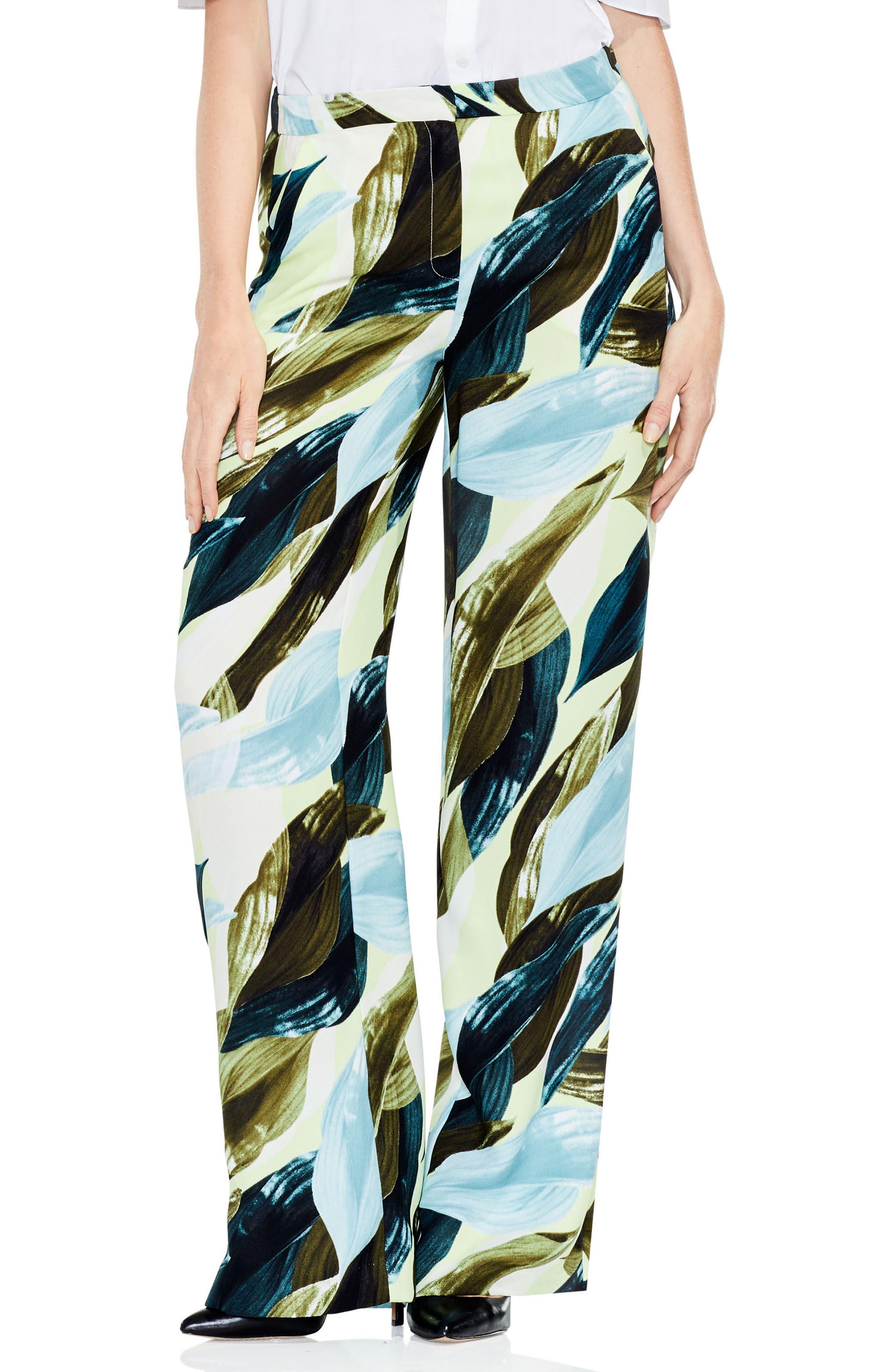Breezy Leaves Wide Leg Pants,                         Main,                         color,