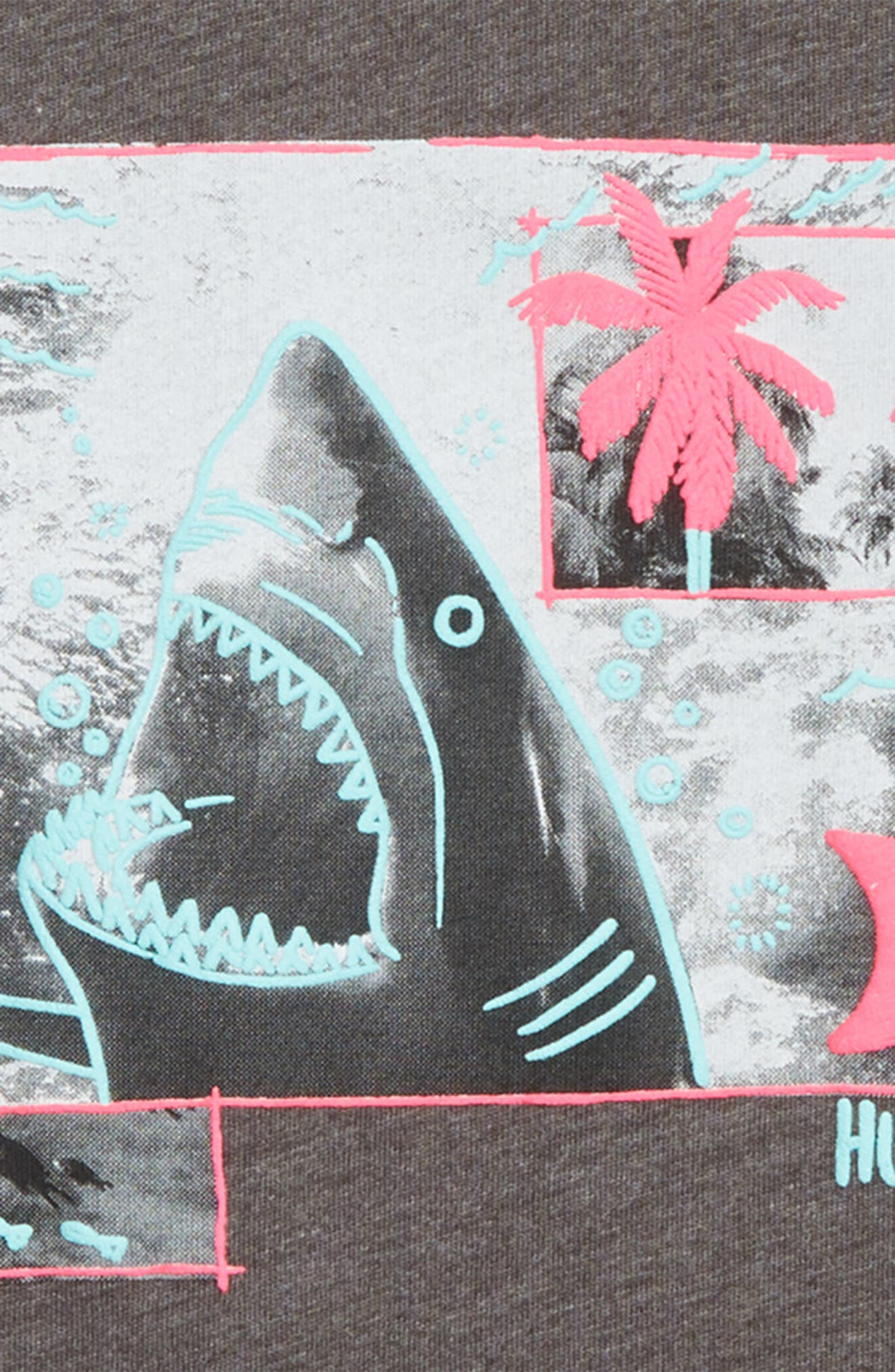 Sketchy Shark Graphic T-Shirt,                             Alternate thumbnail 2, color,                             CHARCOAL HEATHER
