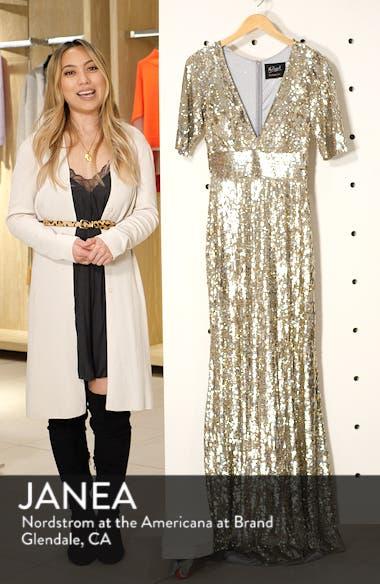 Sequin Stripe Evening Dress, sales video thumbnail