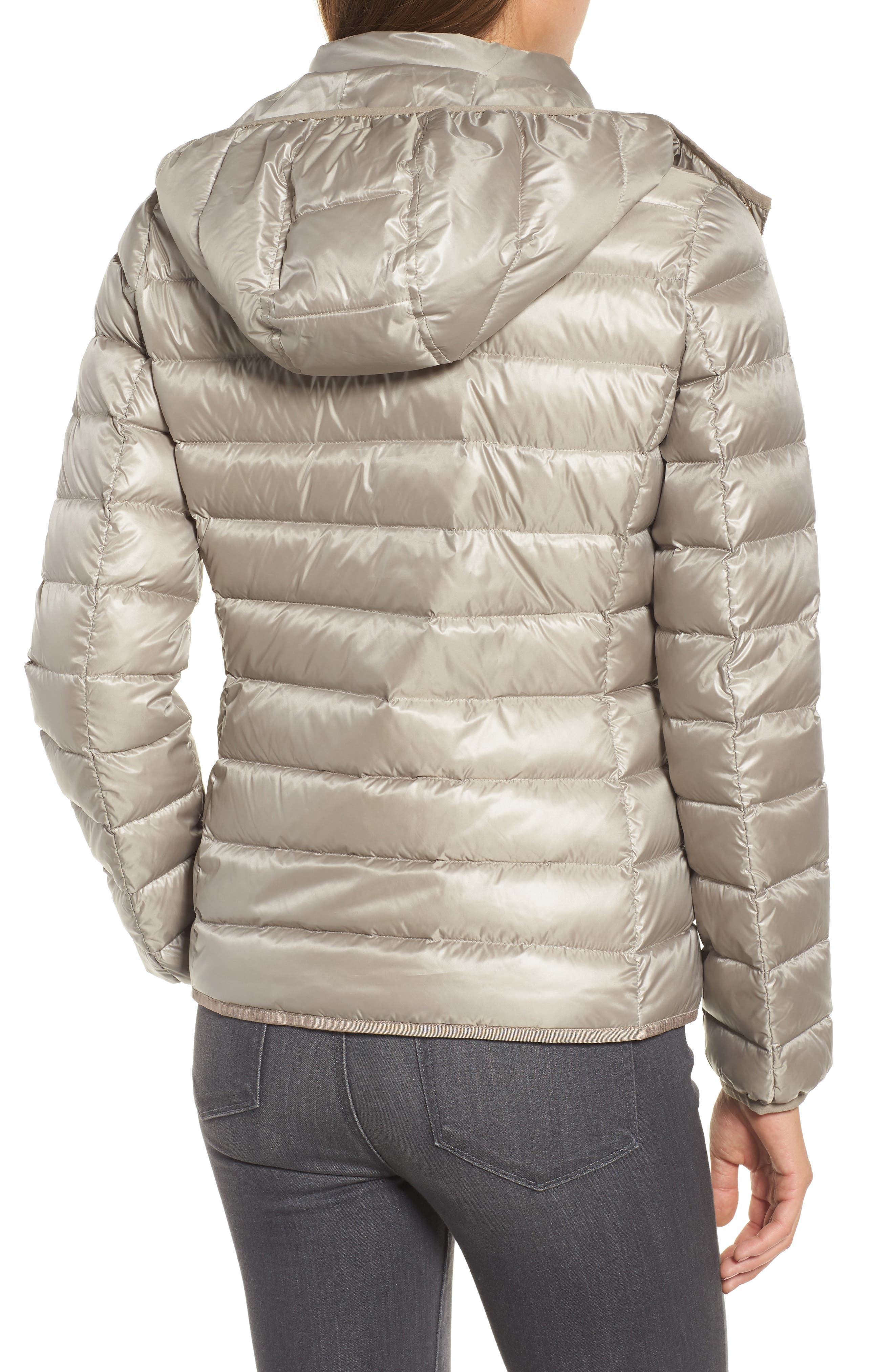 Packable Insulated Jacket with Removable Hood,                             Alternate thumbnail 6, color,