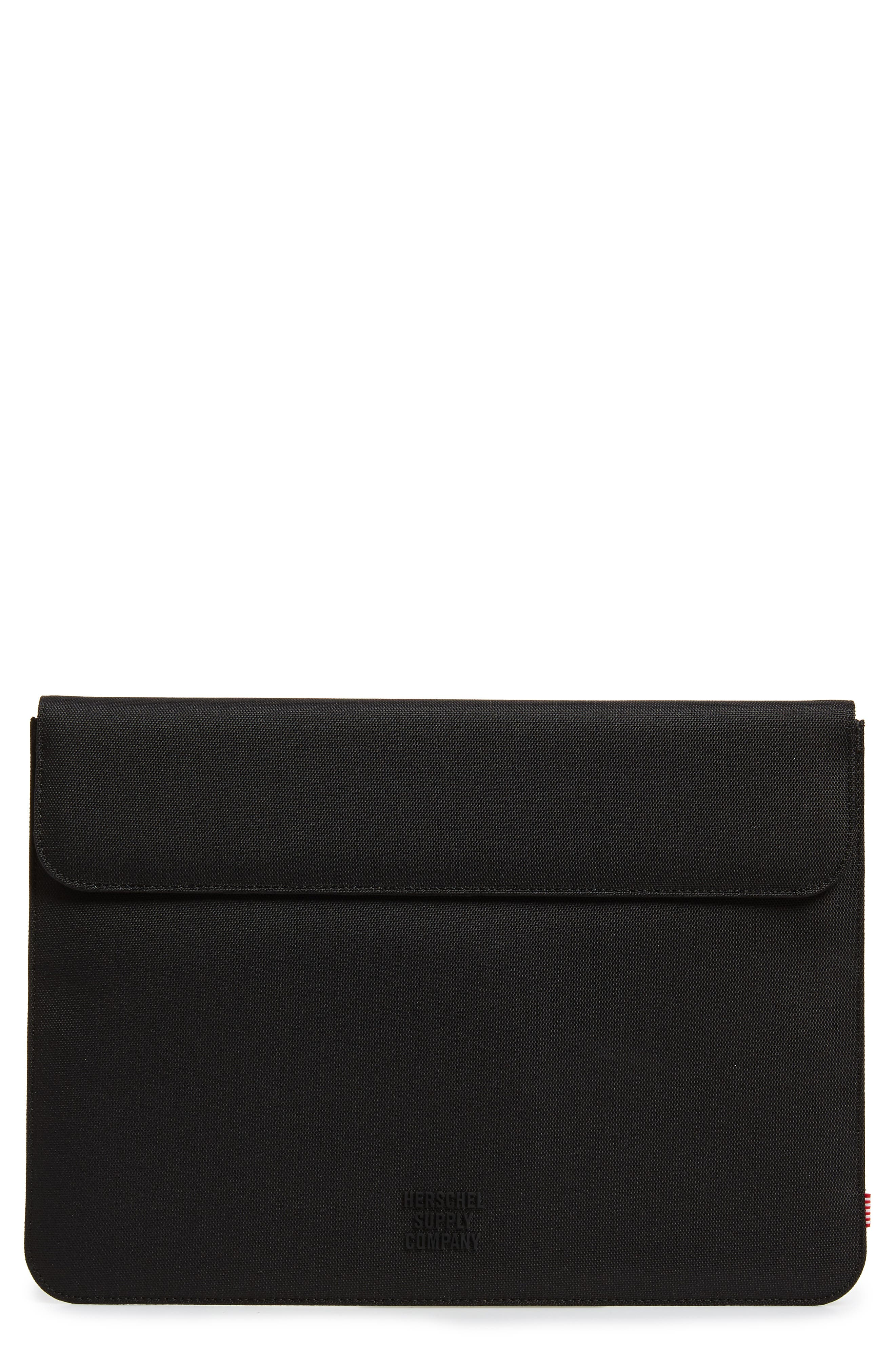 Spokane 13-Inch MacBook Canvas Sleeve,                             Main thumbnail 1, color,                             BLACK