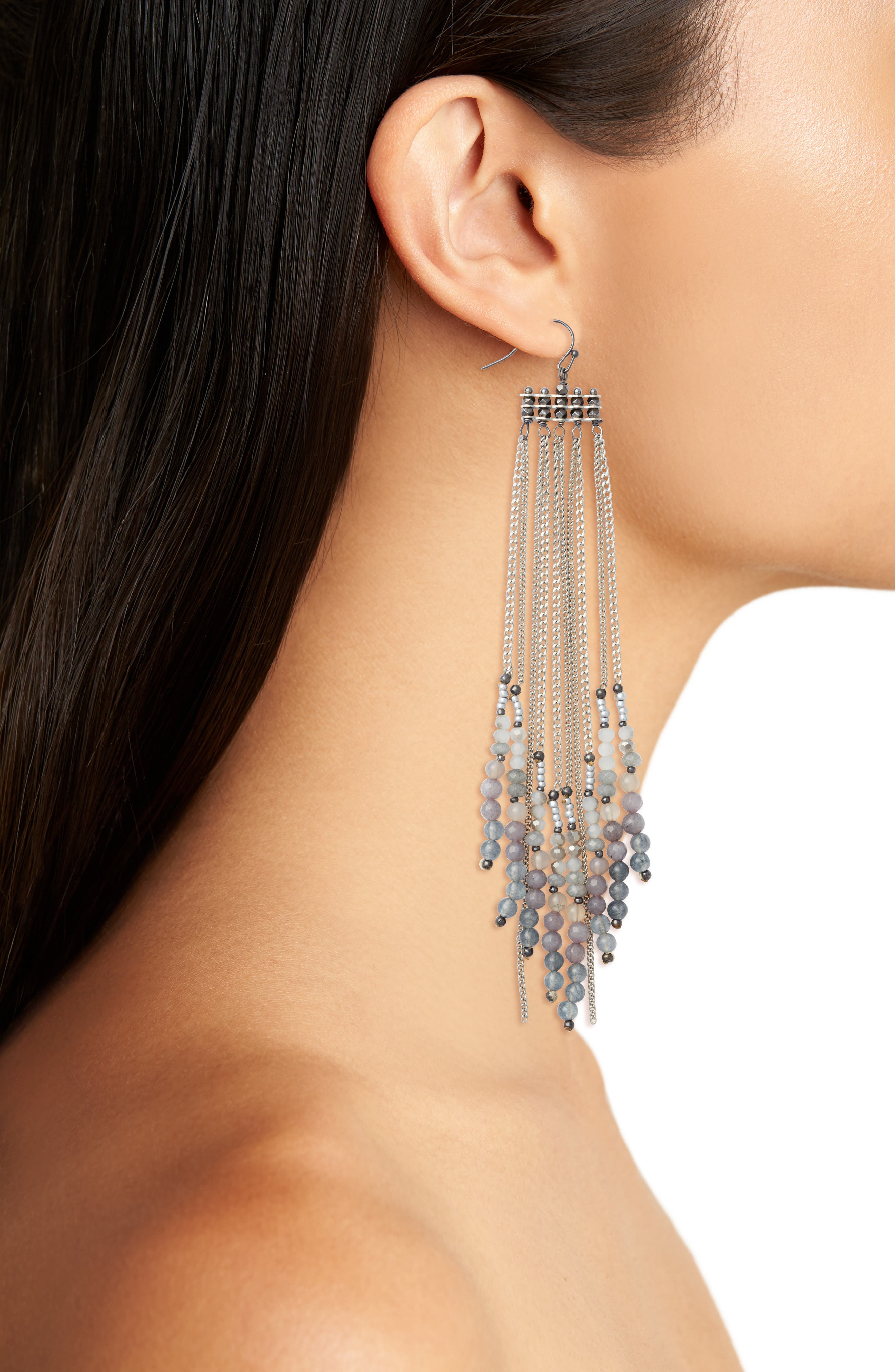 Chain Shoulder Duster Earrings,                             Alternate thumbnail 2, color,                             040