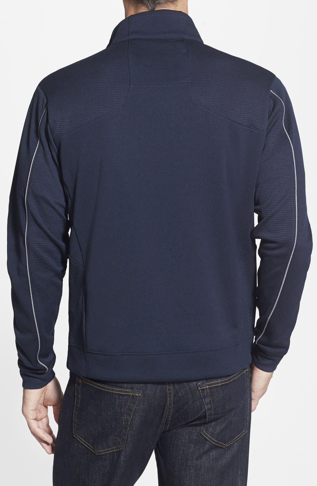 'Denver Broncos - Edge' DryTec Moisture Wicking Half Zip Pullover,                             Alternate thumbnail 2, color,                             420
