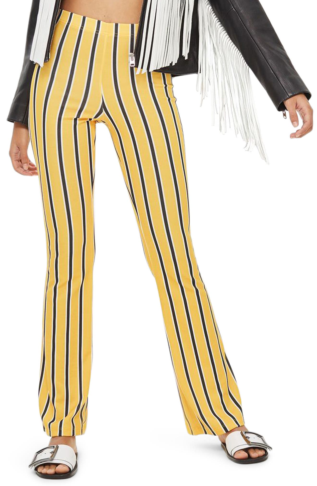 Stripe Flare Trousers,                             Main thumbnail 1, color,                             700