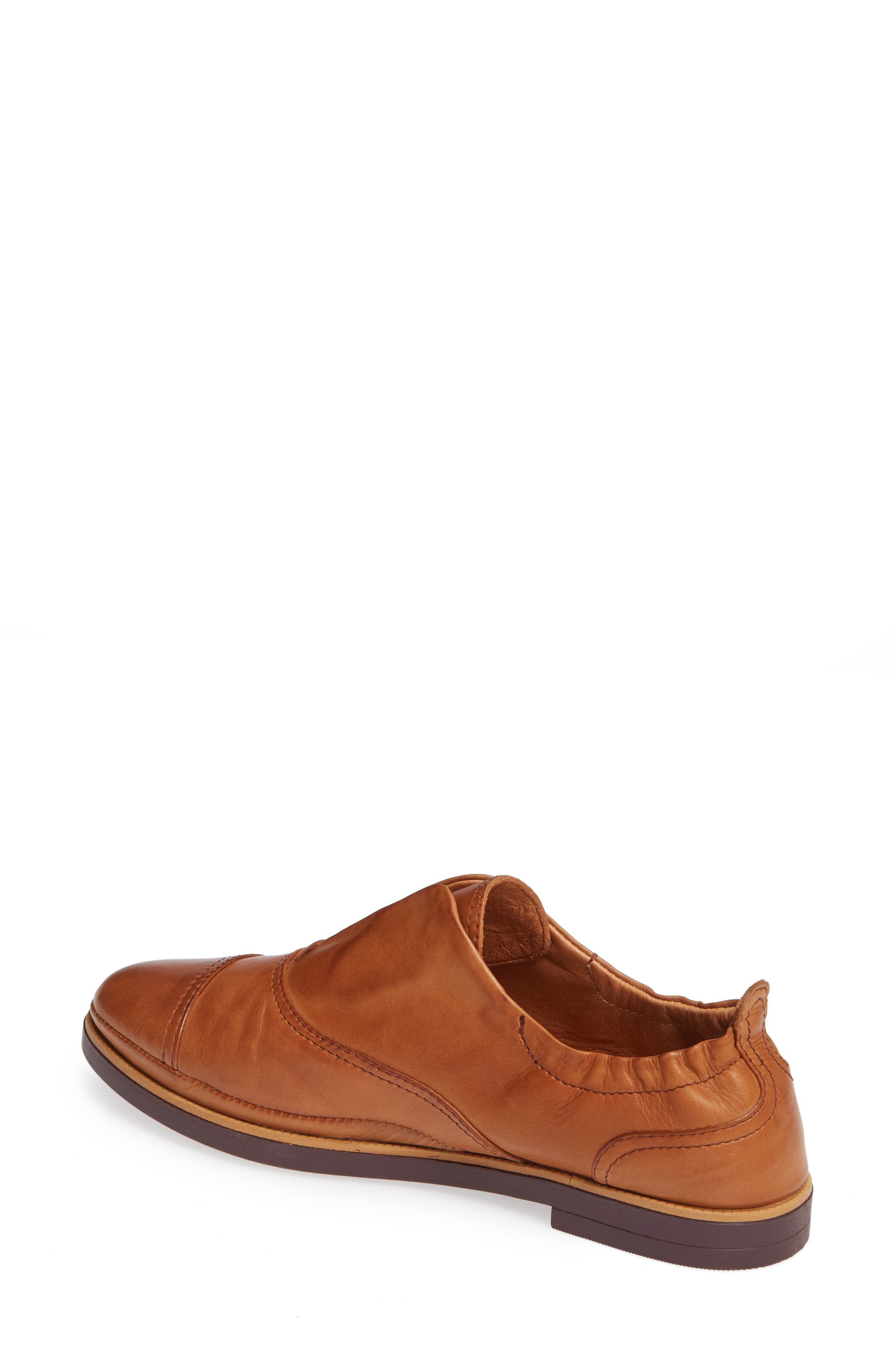 Santorini Colorblock Laceless Oxford,                             Alternate thumbnail 2, color,                             BRANDY LEATHER