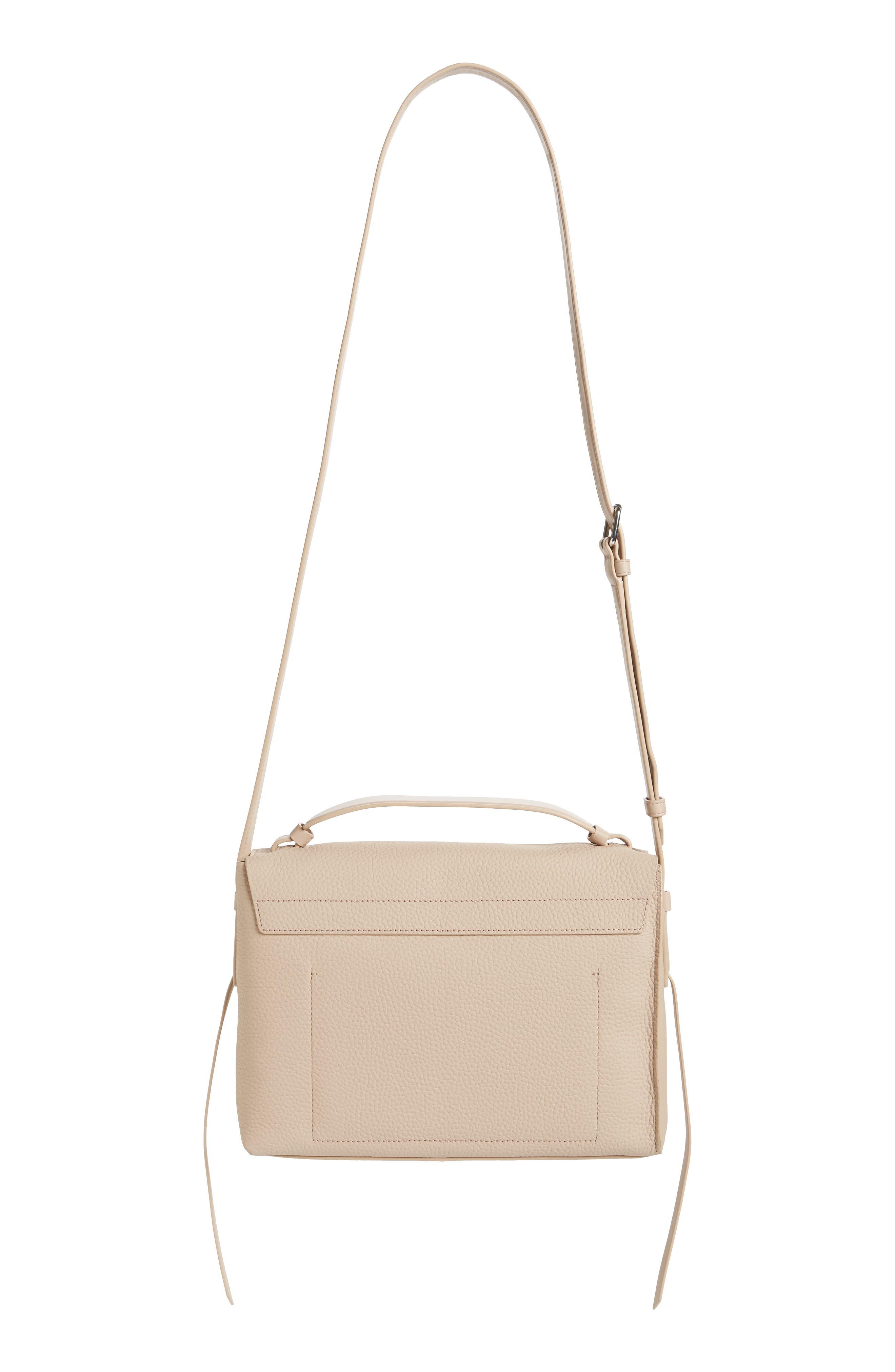 Cami Leather Shoulder Bag,                             Alternate thumbnail 3, color,                             NATURAL
