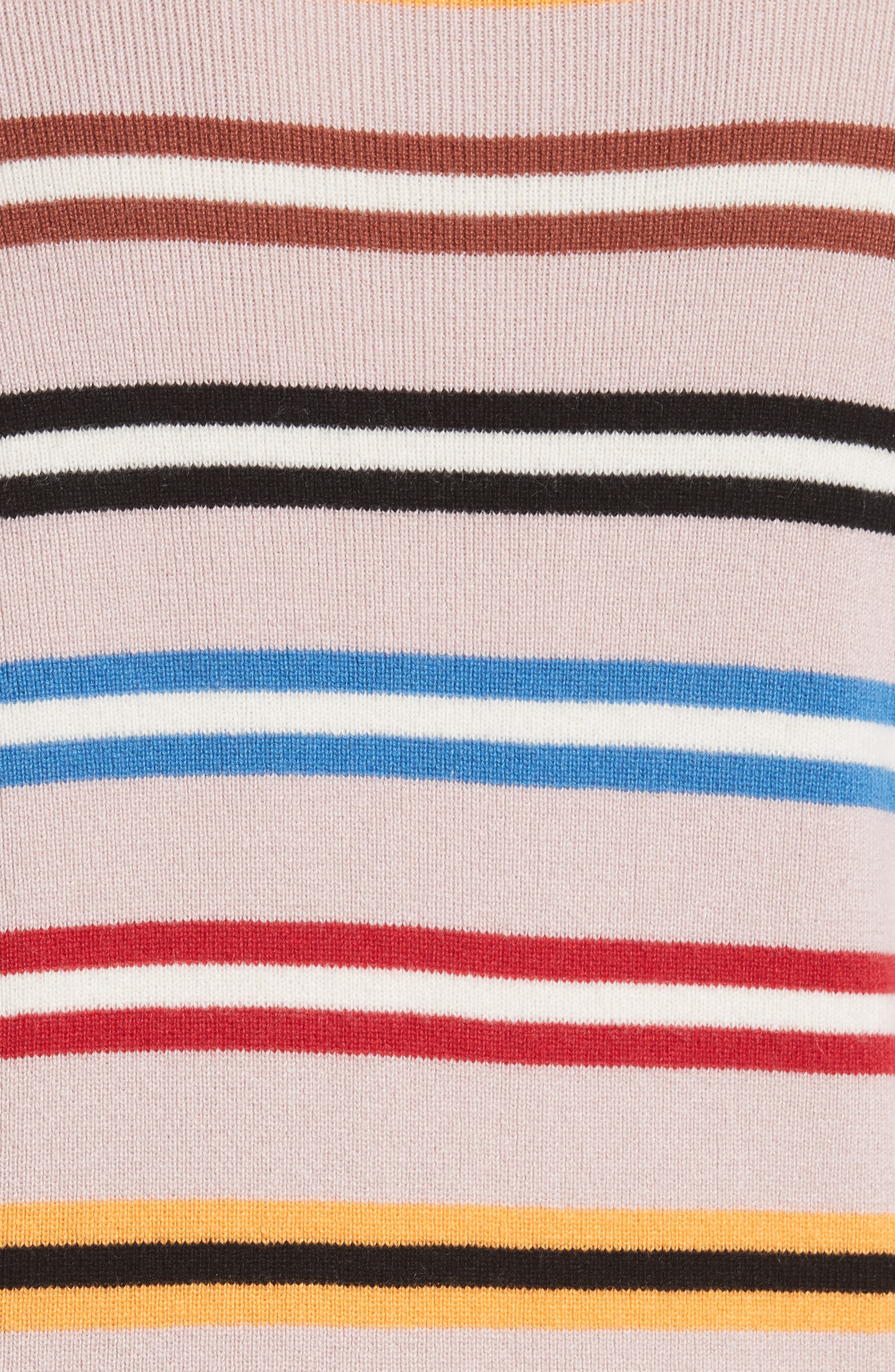 Stripe Cashmere Sweater,                             Alternate thumbnail 5, color,                             250