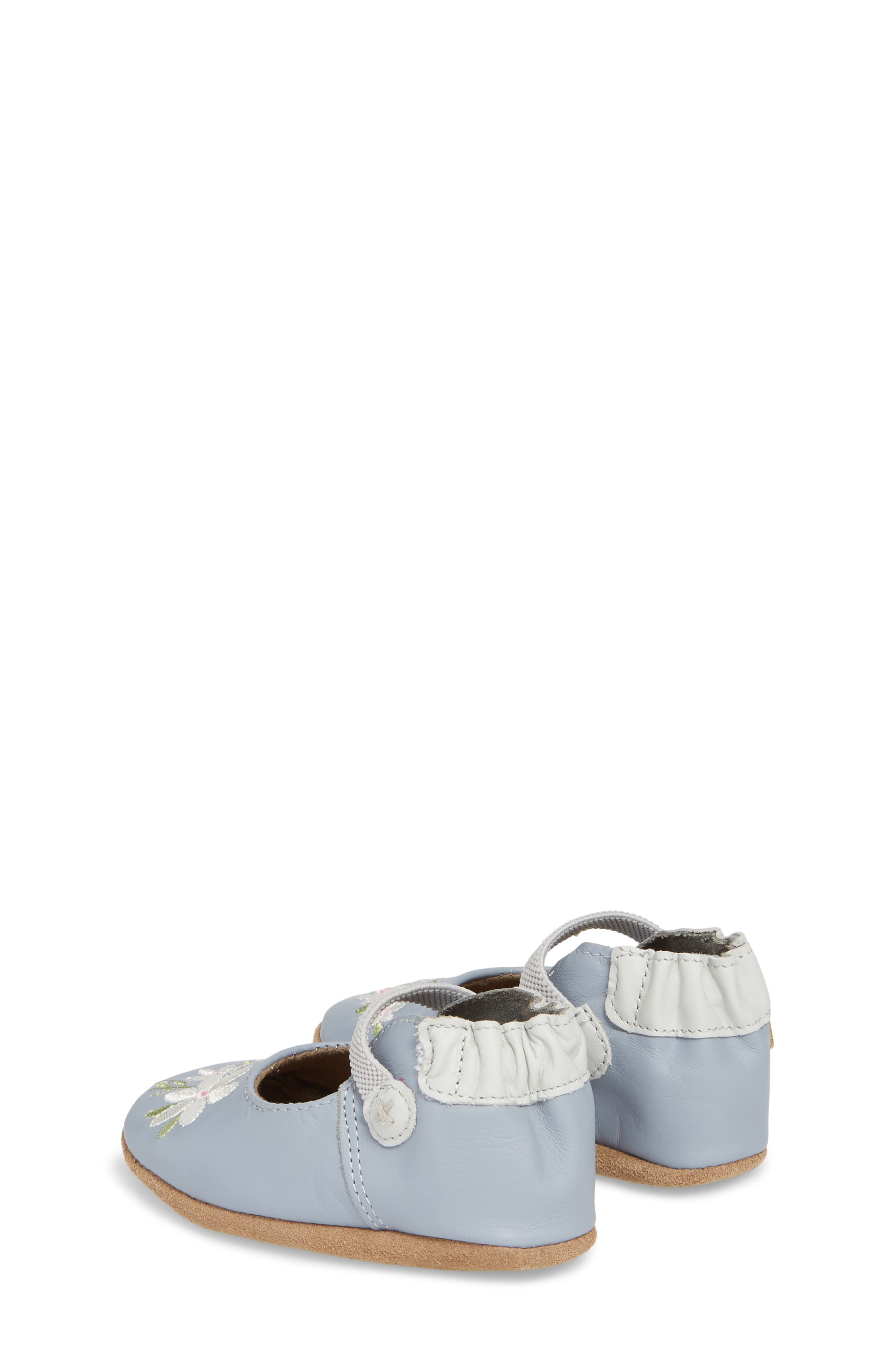 Pretty in Blue Mary Jane Crib Shoe,                             Alternate thumbnail 2, color,                             TWILIGHT BLUE