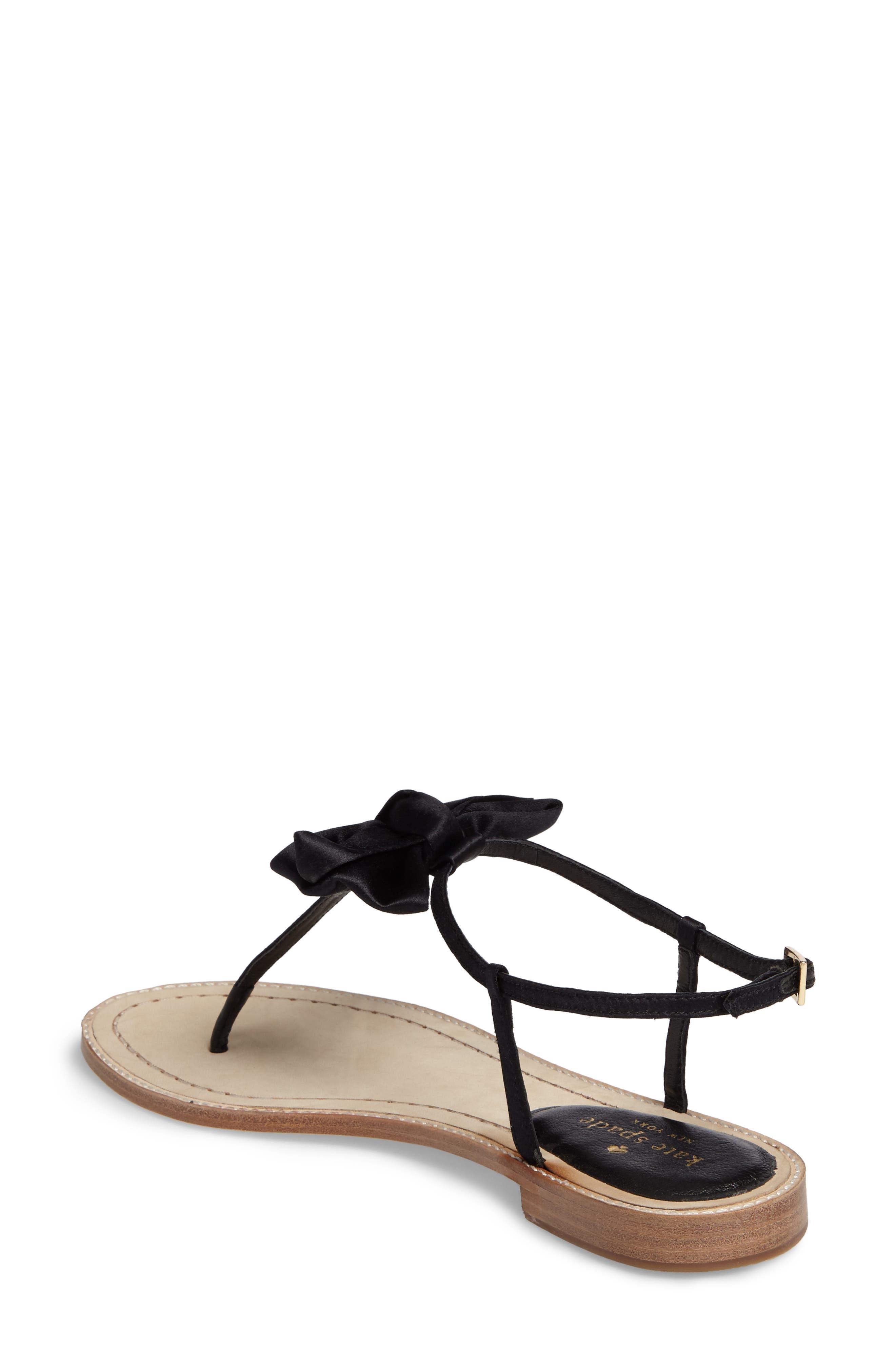 serrano bow sandal,                             Alternate thumbnail 5, color,