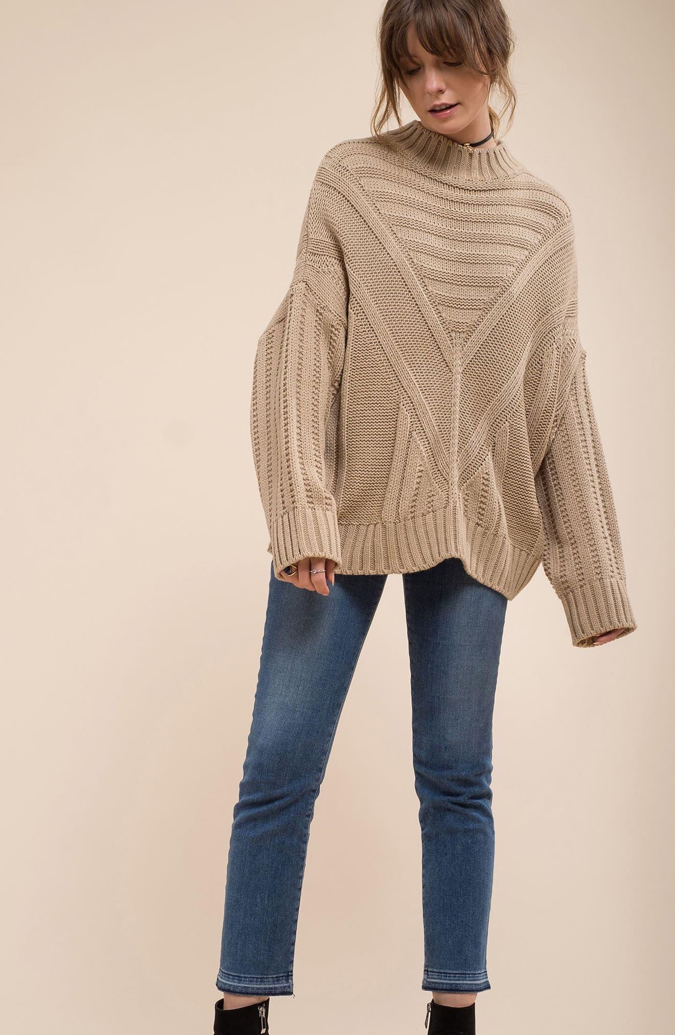 Oversize Drop Shoulder Sweater,                             Alternate thumbnail 7, color,                             250