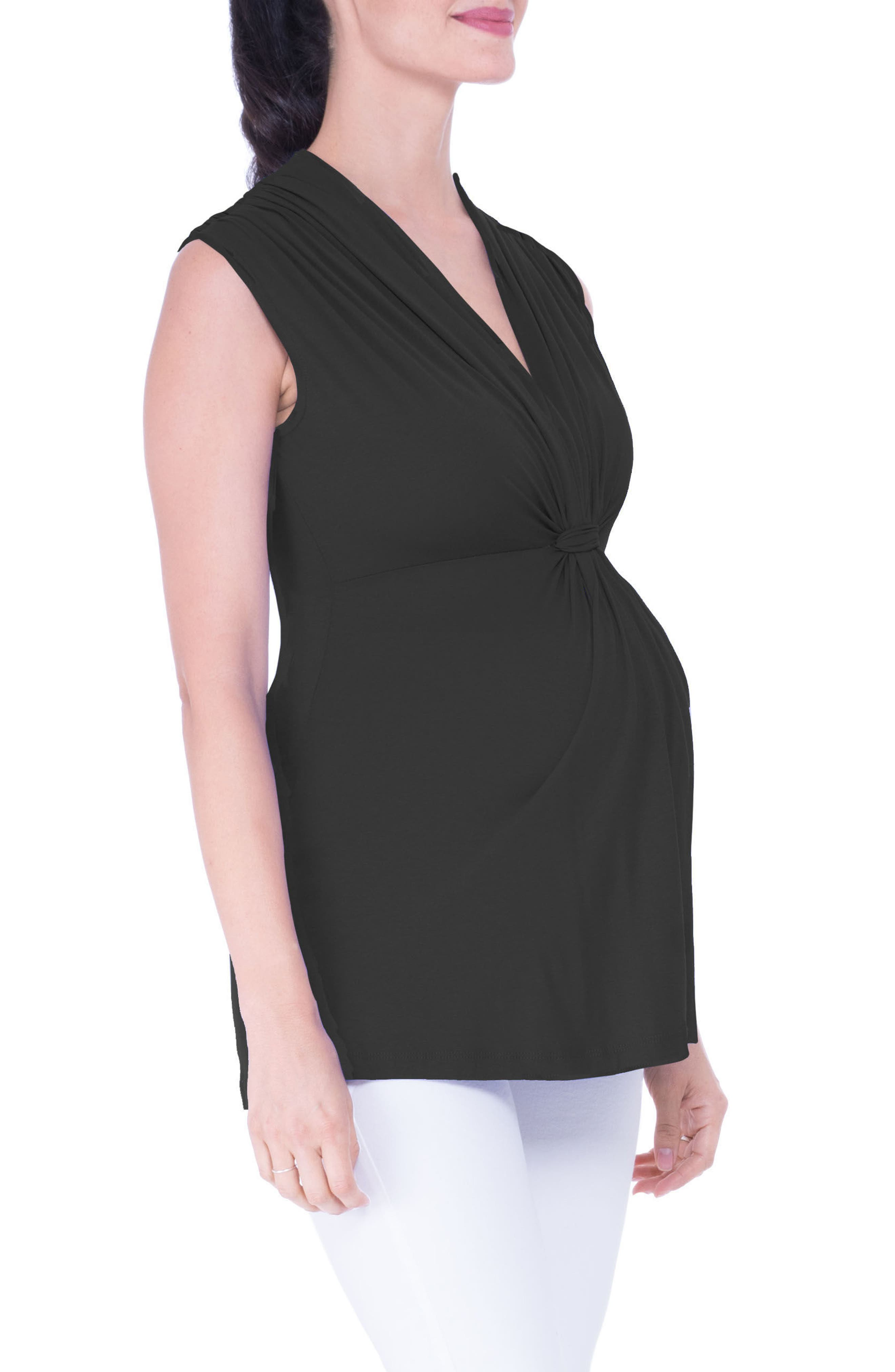 Knot Maternity Top,                             Alternate thumbnail 4, color,                             001