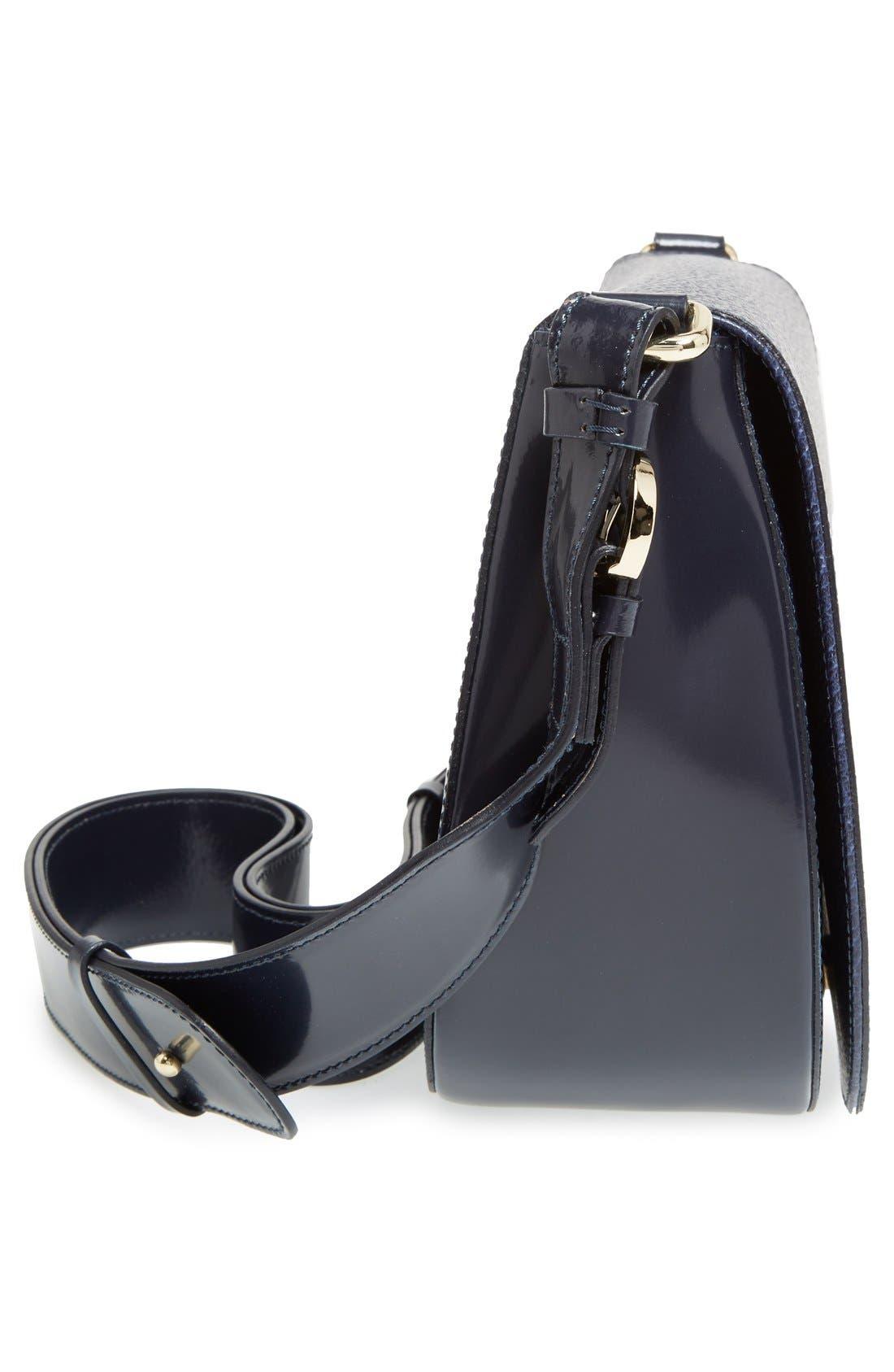 'Small Ellen' Leather Shoulder Bag,                             Alternate thumbnail 5, color,                             400
