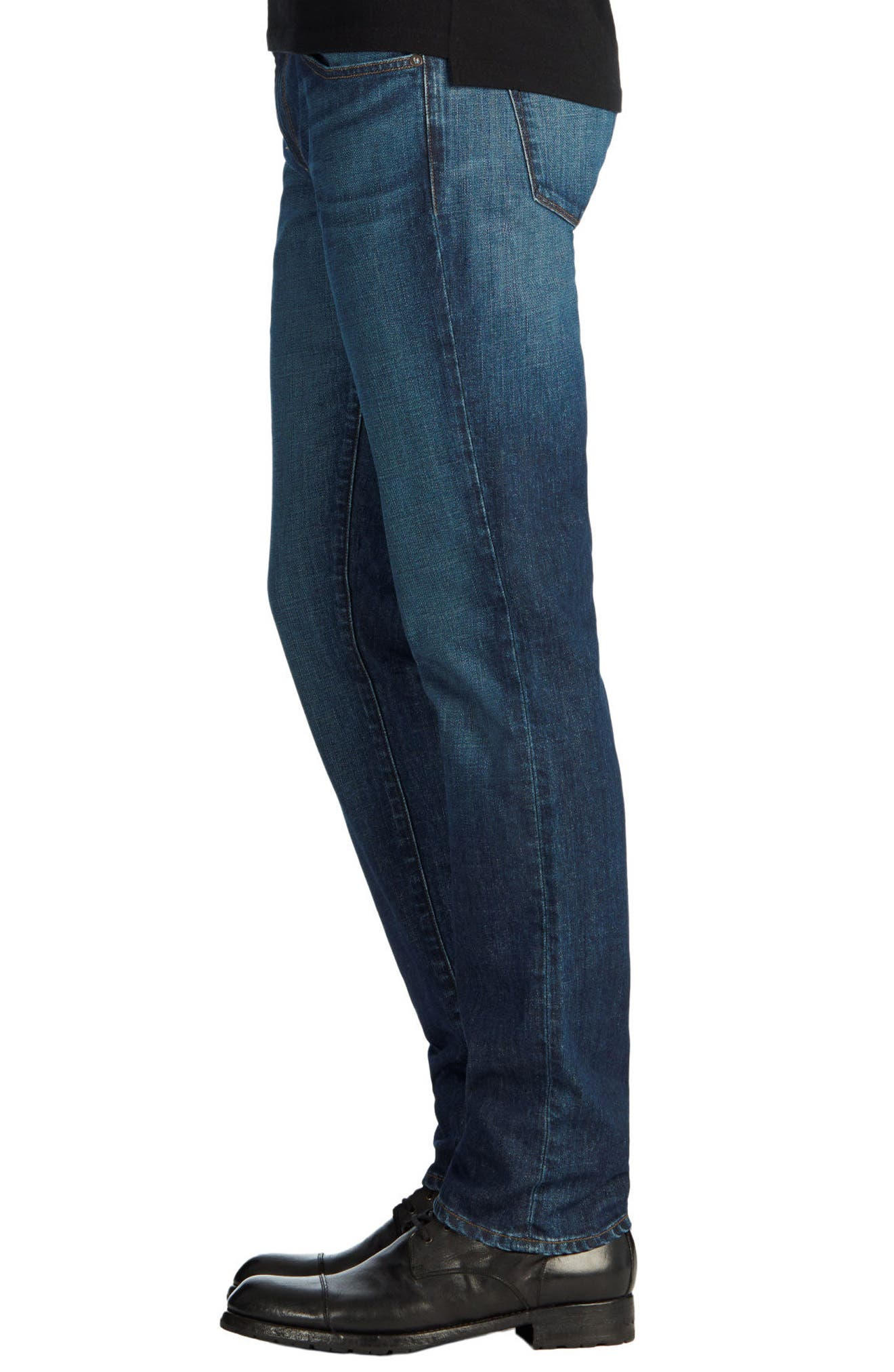 Tyler Slim Fit Jeans,                             Alternate thumbnail 4, color,                             DIRAN BLUE
