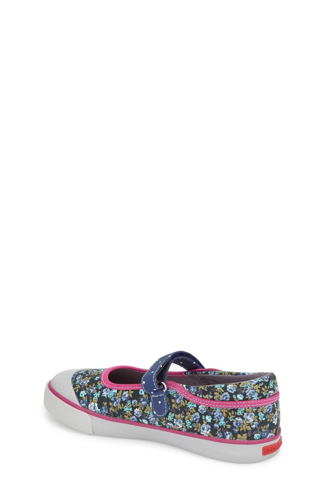 'Marie' Mary Jane Sneaker,                             Alternate thumbnail 4, color,