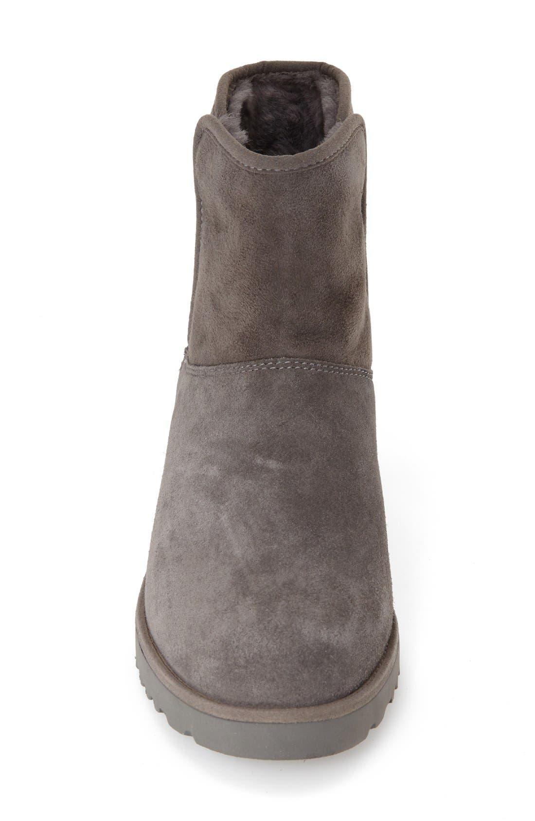 Kristin - Classic Slim<sup>™</sup> Water Resistant Mini Boot,                             Alternate thumbnail 3, color,                             GREY SUEDE
