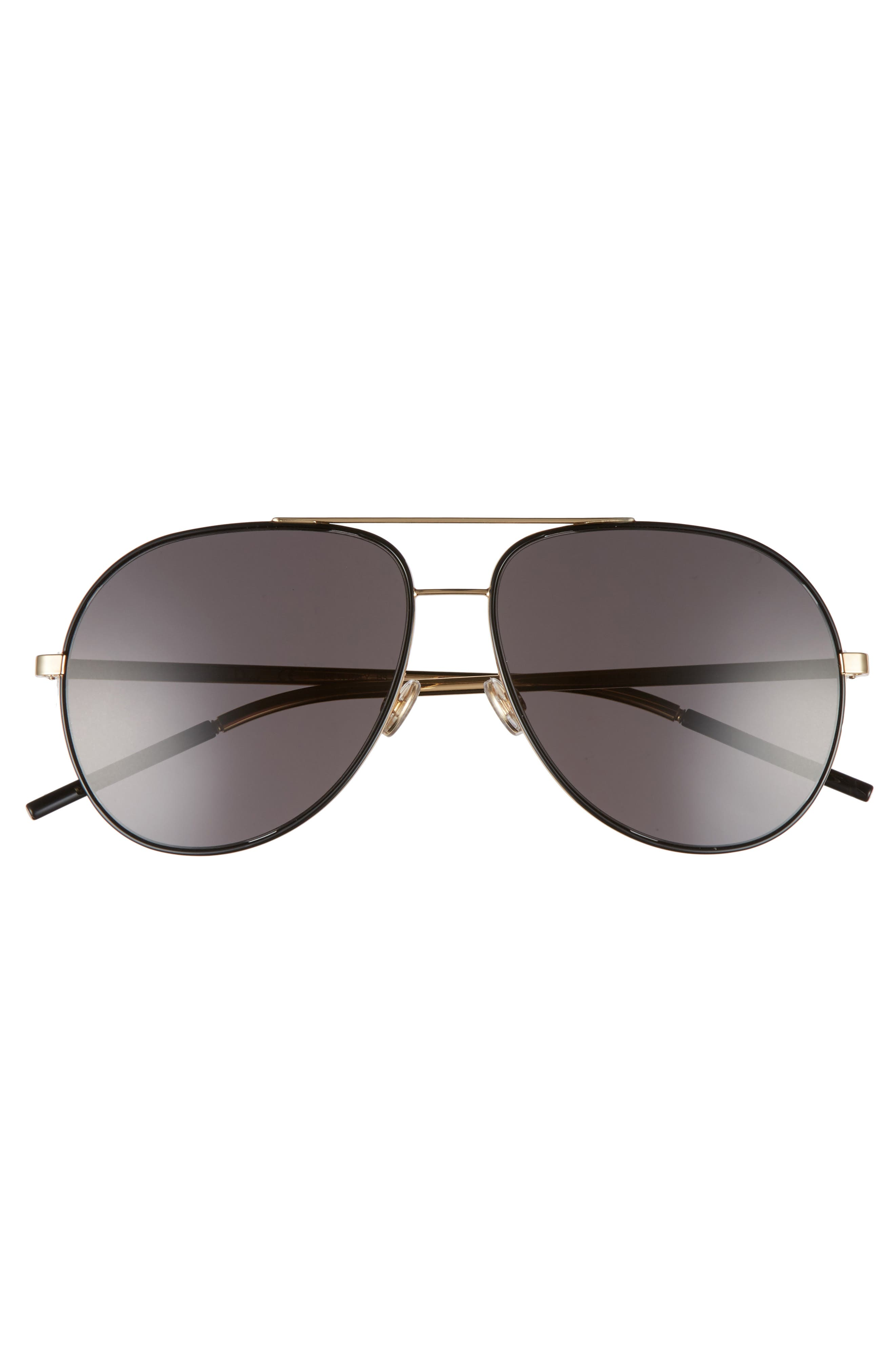 Astrals 59mm Aviator Sunglasses,                             Alternate thumbnail 3, color,                             001