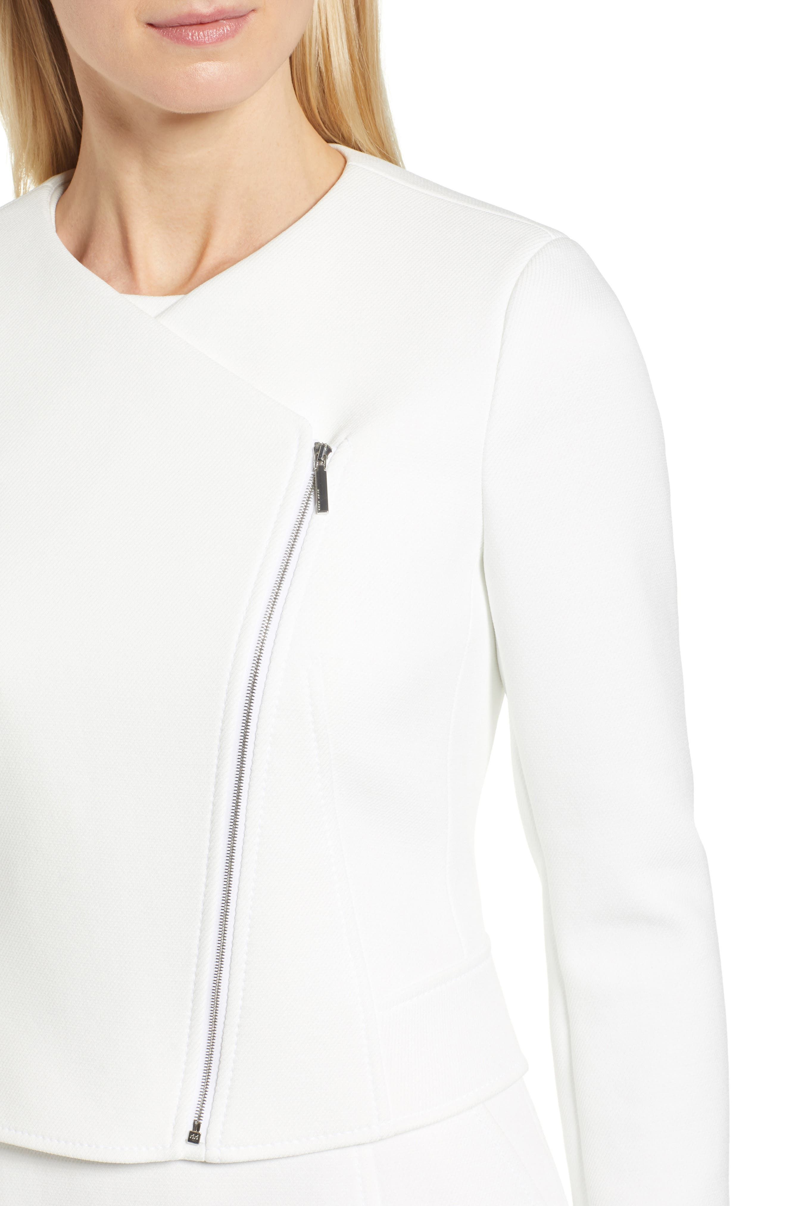Juleama Compact Twill Asymmetrical Zip Jacket,                             Alternate thumbnail 4, color,