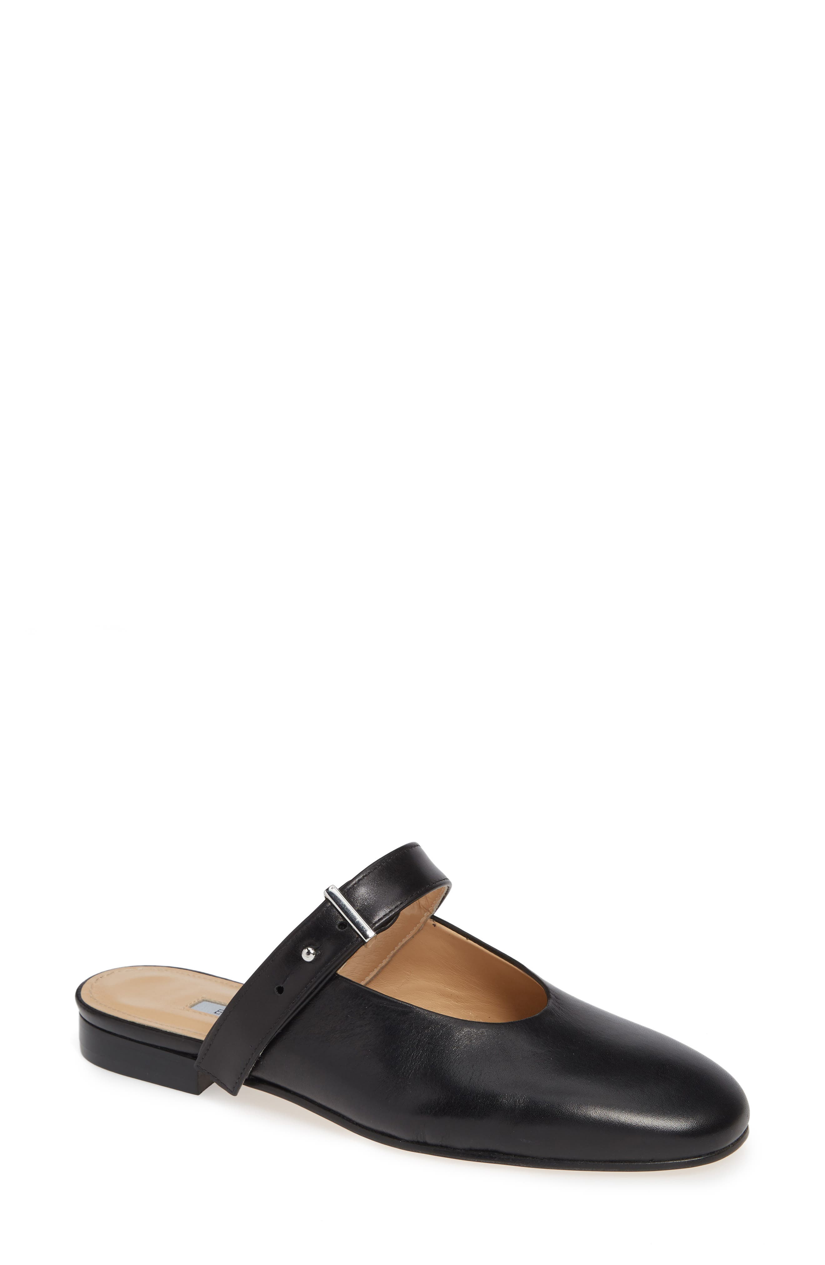 Certo Mary Jane Mule,                         Main,                         color, BLACK LEATHER