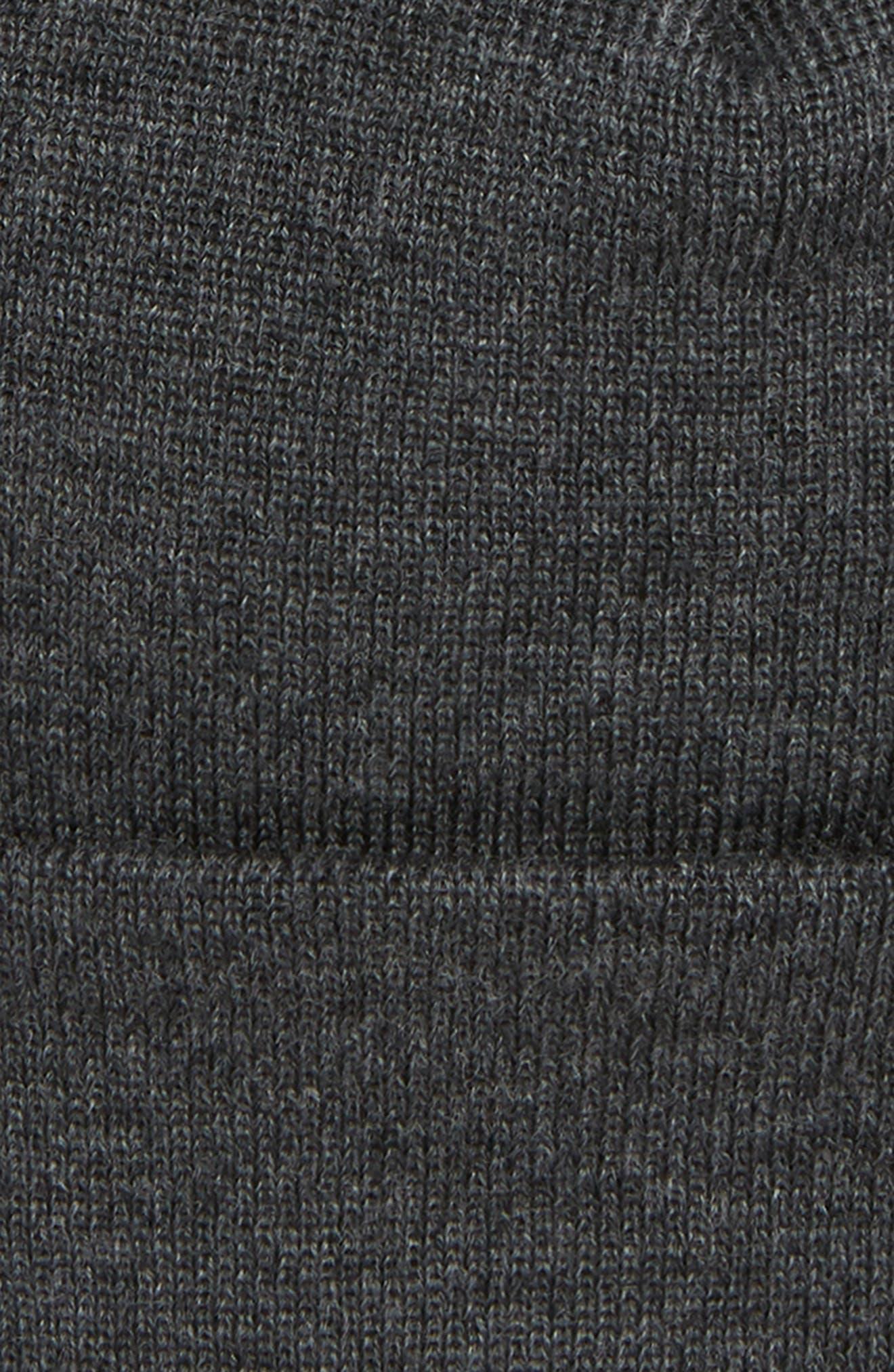 Merino Wool Beanie,                             Alternate thumbnail 2, color,                             010