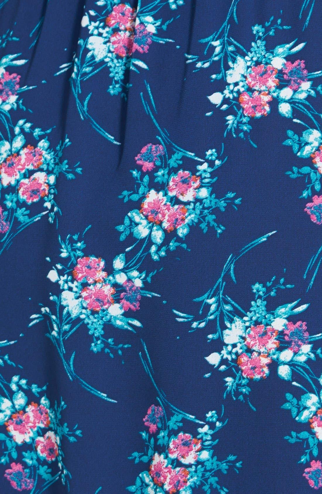 Strapless Crochet Trim Dress,                             Alternate thumbnail 3, color,                             400