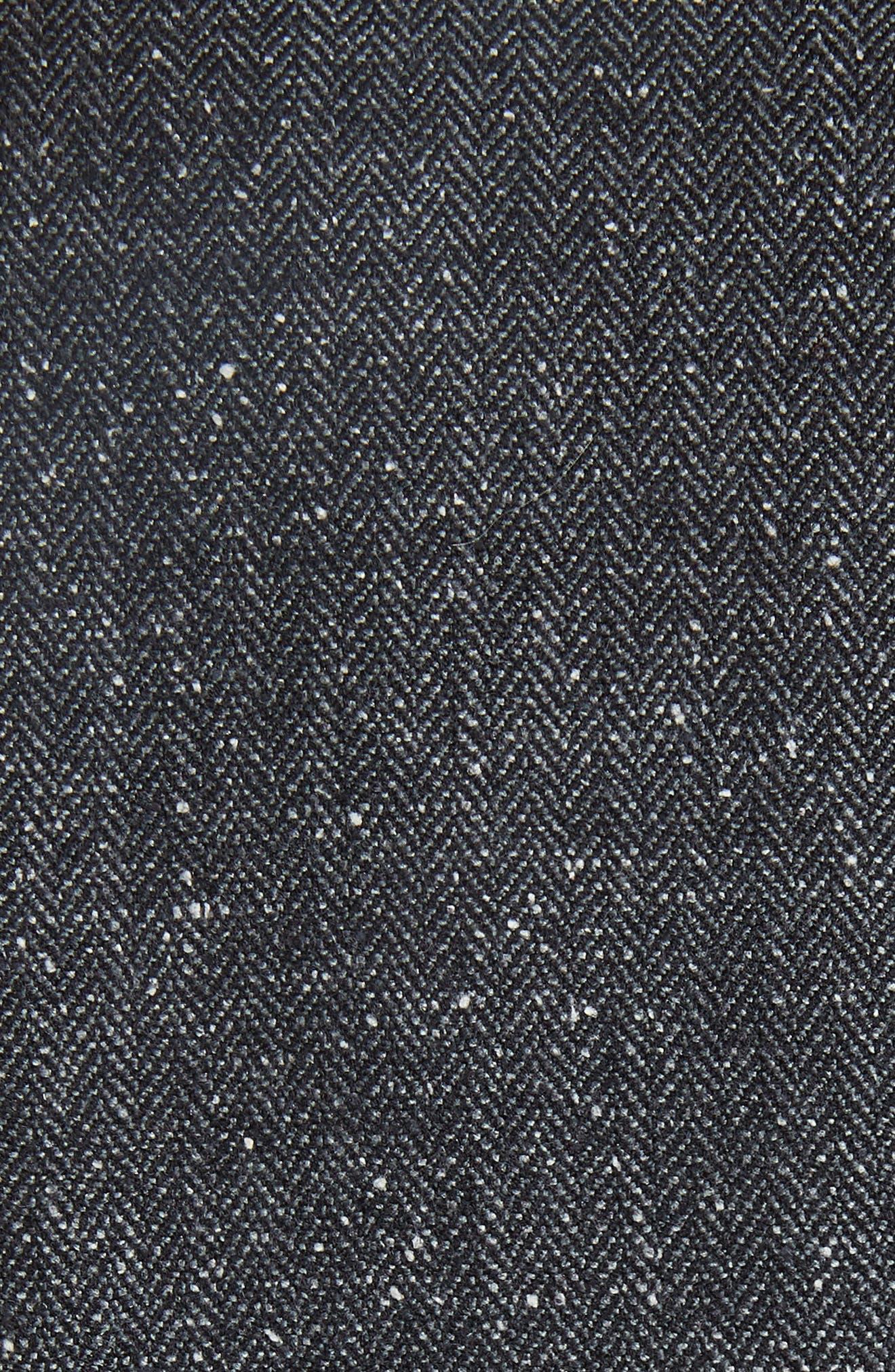 Herringbone Jacket,                             Alternate thumbnail 6, color,                             GREY