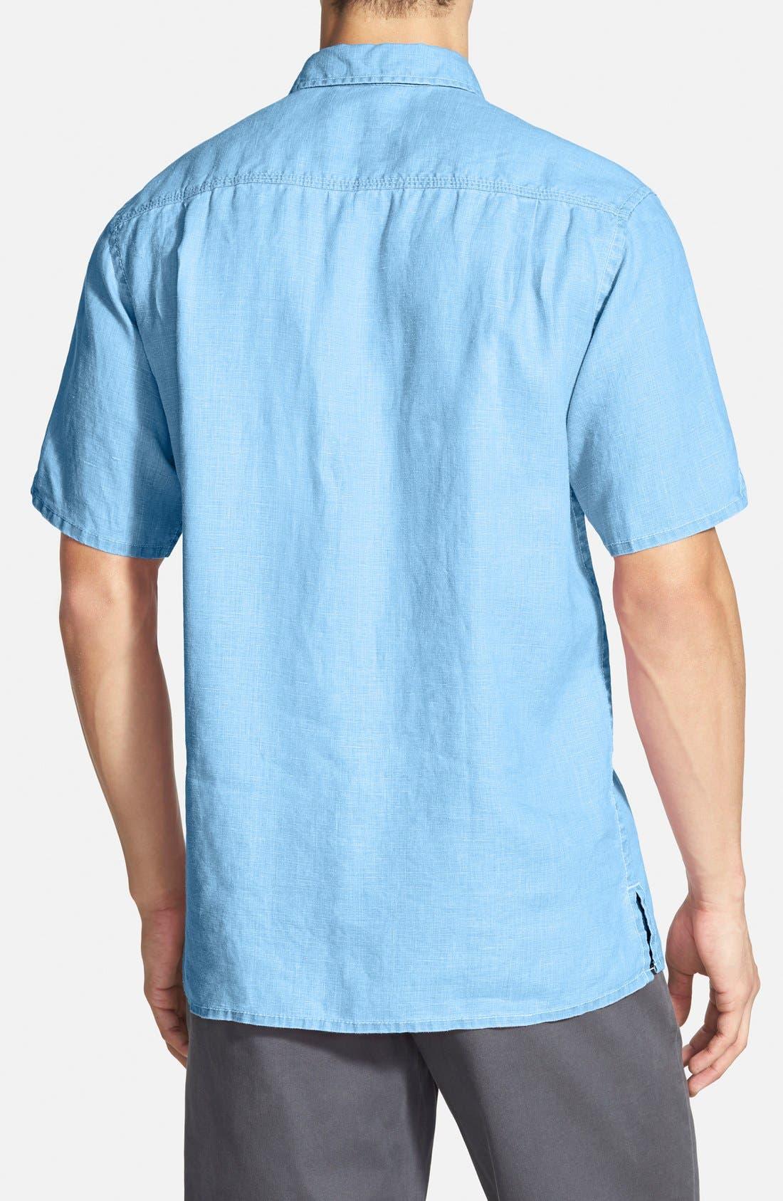 Seaglass Breezer Short Sleeve Linen Sport Shirt,                             Alternate thumbnail 25, color,
