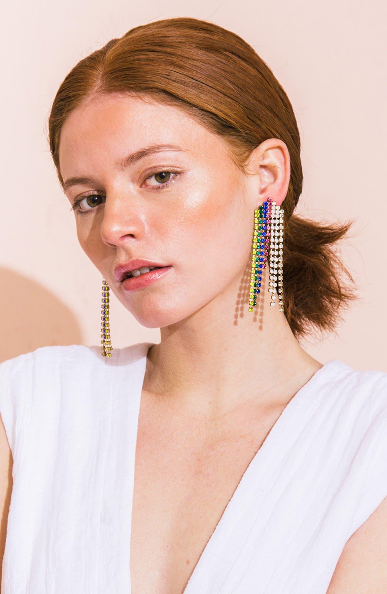 Marissa Crystal Drop Earrings,                             Alternate thumbnail 6, color,