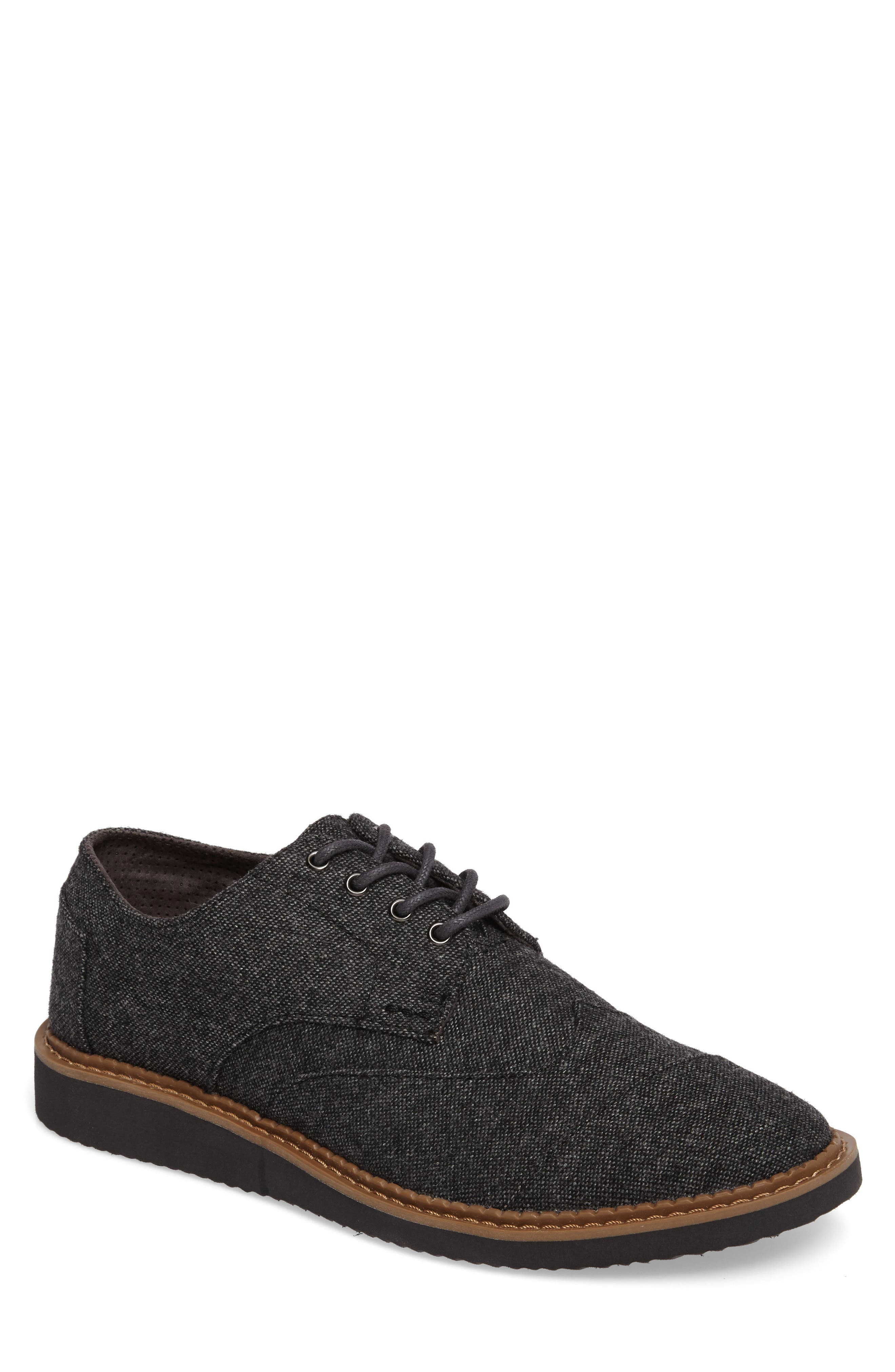'Classic Brogue' Cotton Twill Derby,                             Main thumbnail 8, color,