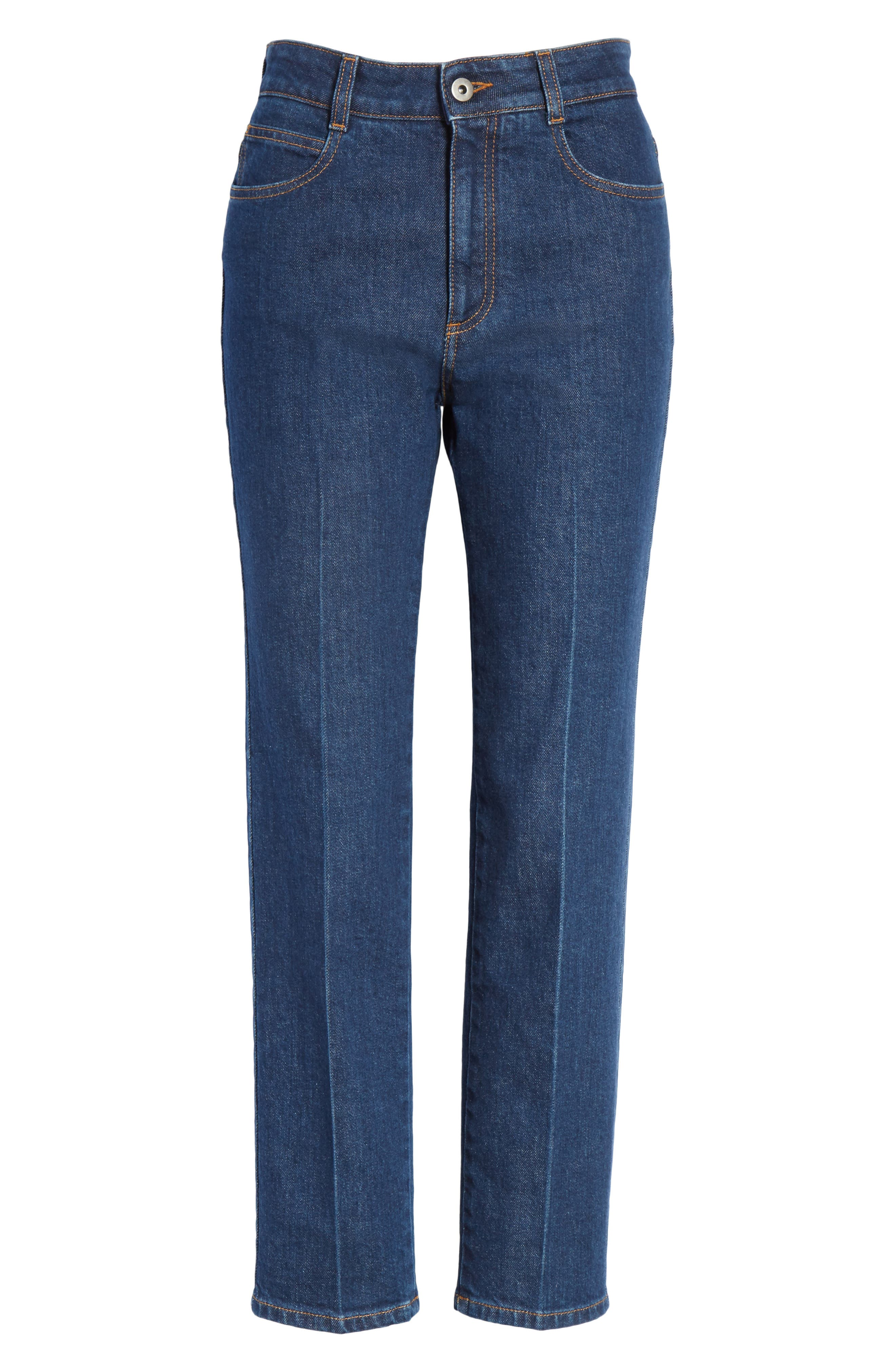 Crop Skinny Jeans,                             Alternate thumbnail 6, color,                             465