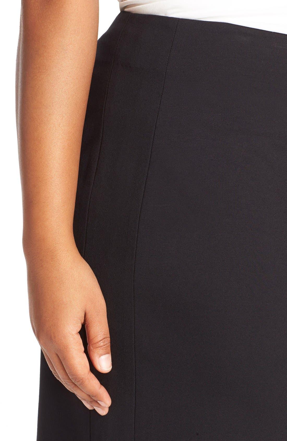 Ponte Knit Skirt,                             Alternate thumbnail 3, color,                             RICH BLACK