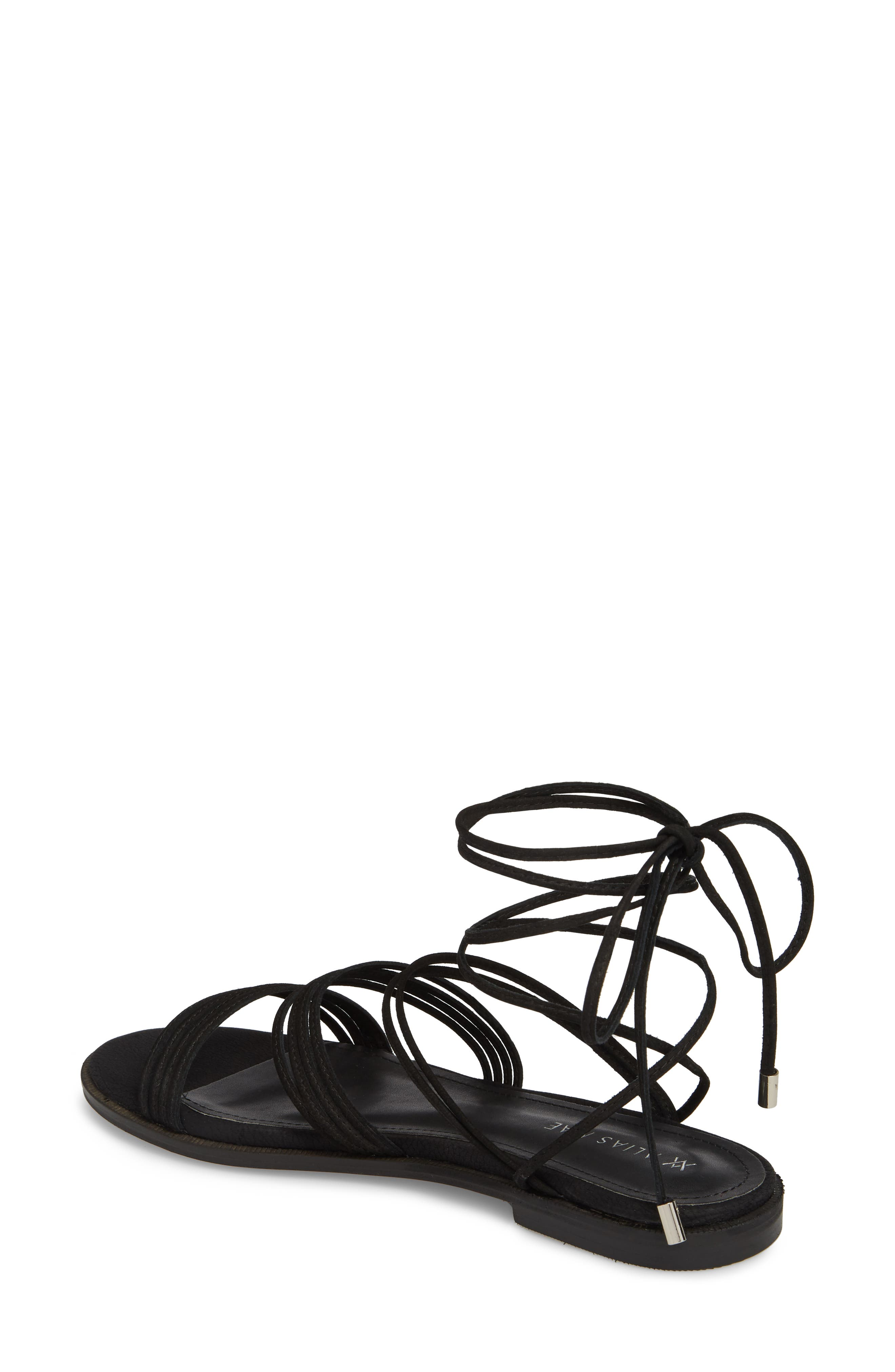 Theory Strappy Flat Sandal,                             Alternate thumbnail 4, color,