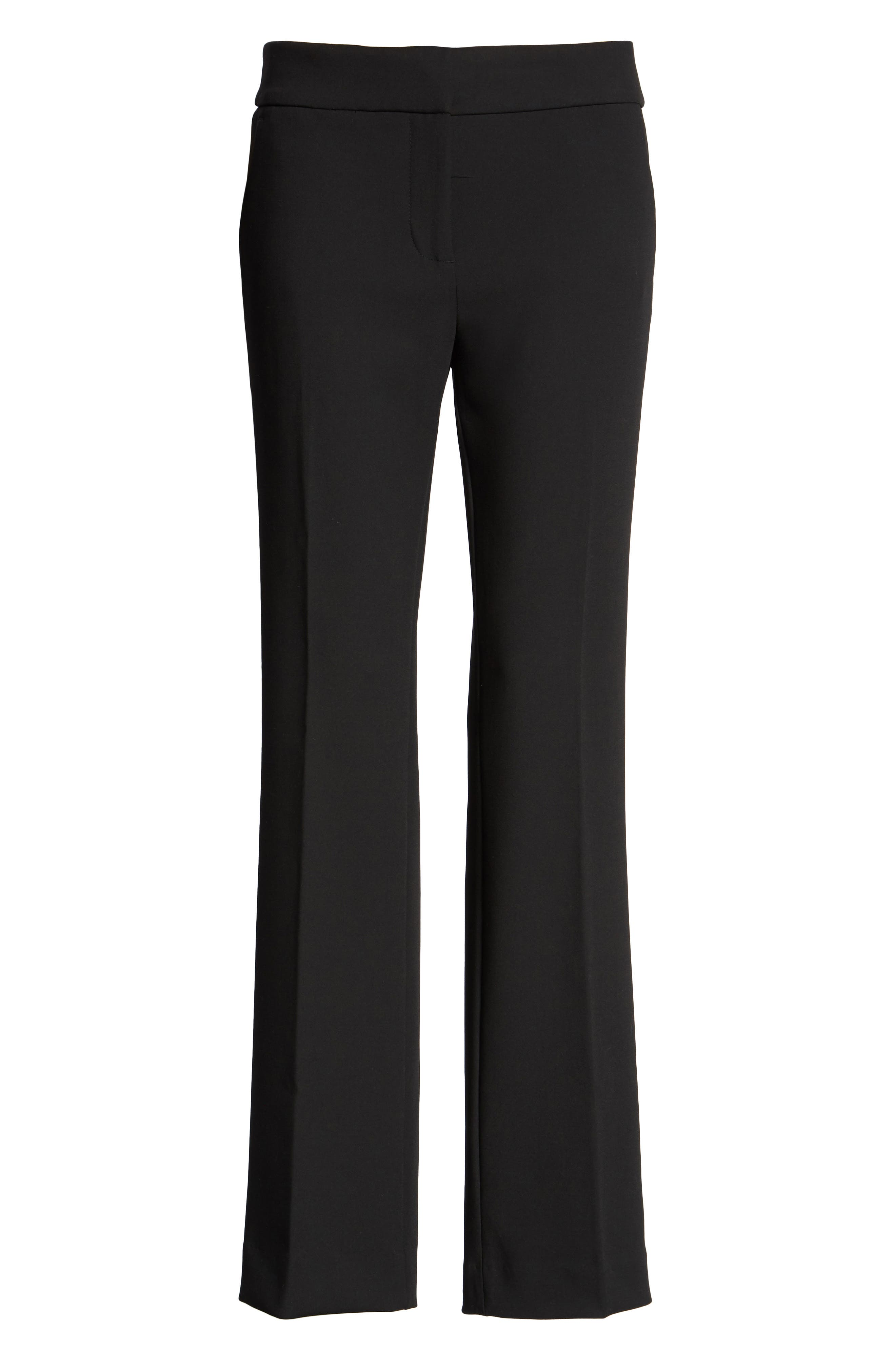 Edie Full Length Trouser in Four-Season Stretch,                             Alternate thumbnail 6, color,                             001