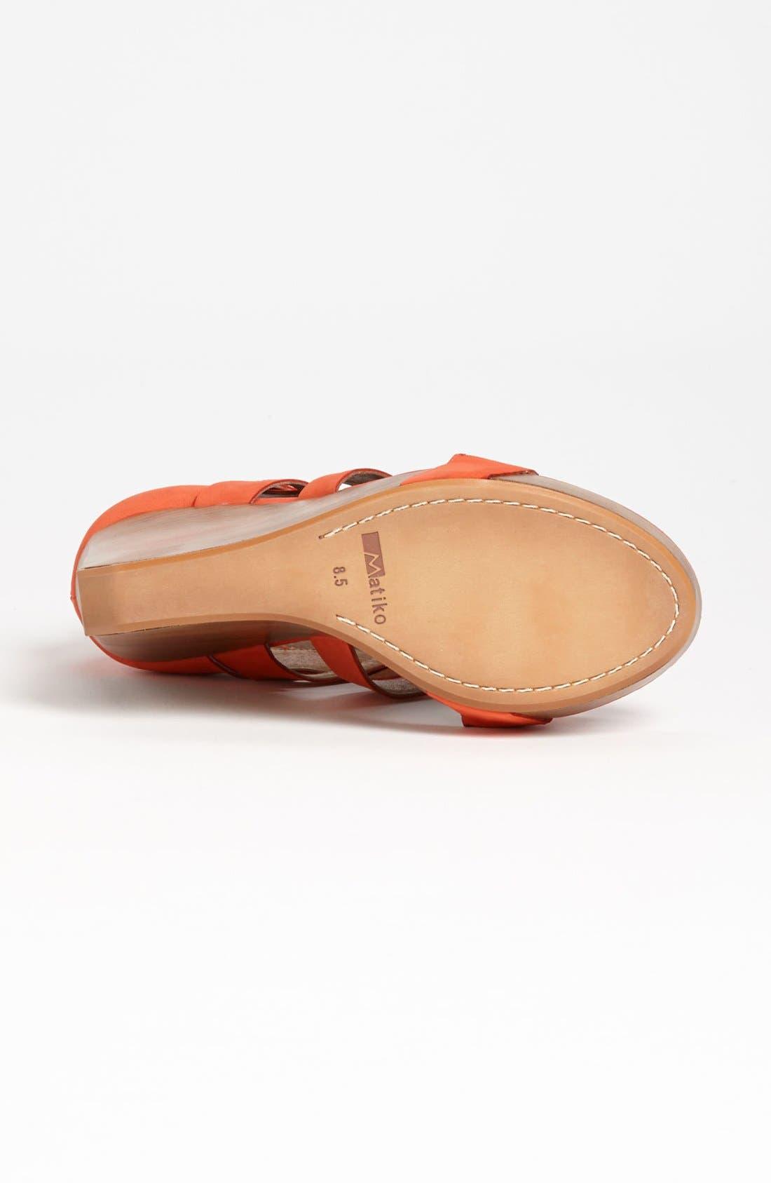 'Crisscross' Wedge Sandal,                             Alternate thumbnail 4, color,