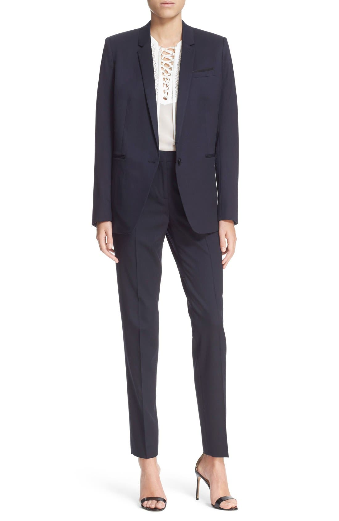 'Timeless' Stretch Wool Jacket,                             Alternate thumbnail 2, color,                             400