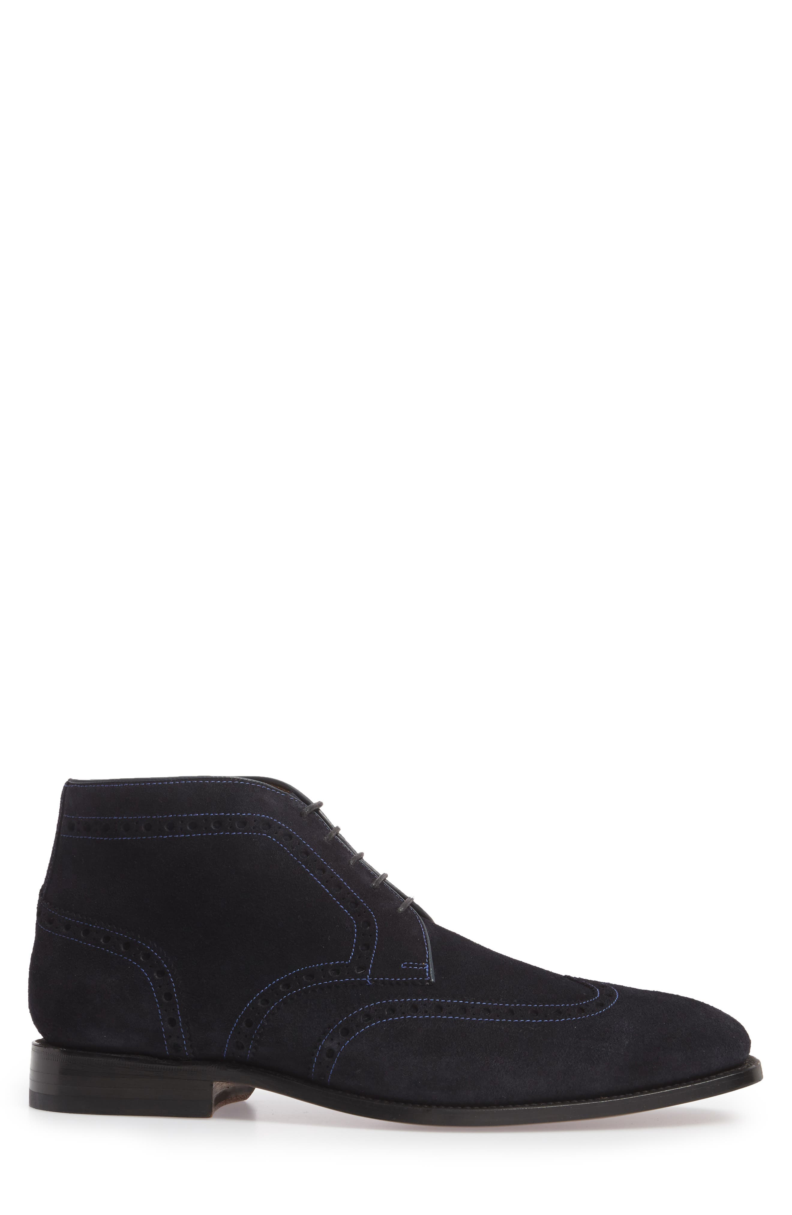 Presidio Wingtip Boot,                             Alternate thumbnail 3, color,                             NAVY
