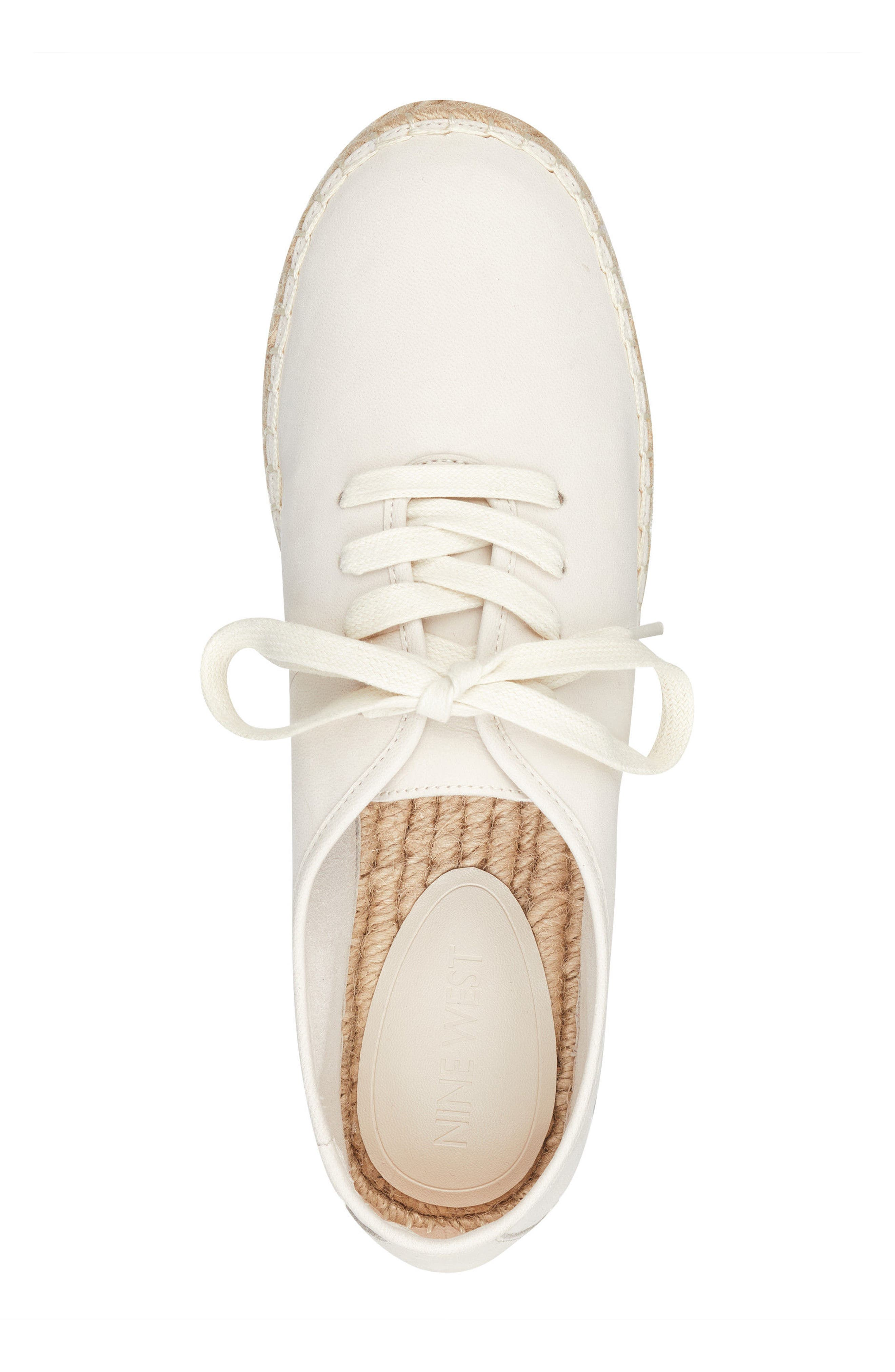 Gingerbread Espadrille Sneaker,                             Alternate thumbnail 5, color,                             OFF WHITE LEATHER