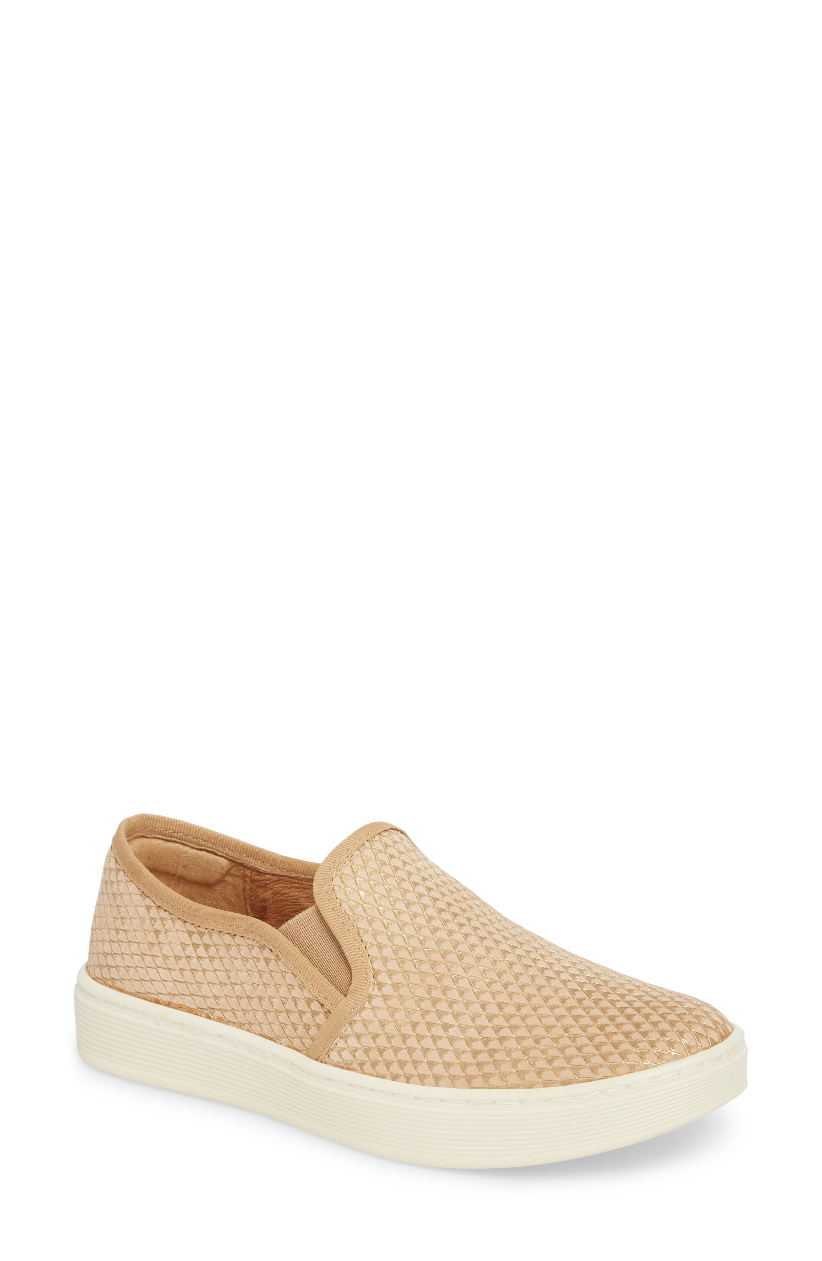 'Somers' Slip-On Sneaker,                         Main,                         color, SAND NUBUCK